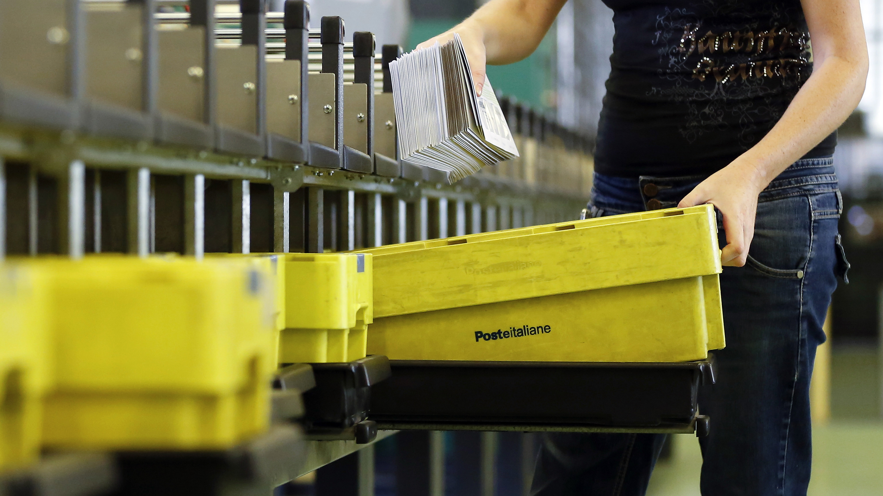 Postal Operations At Poste Italiane SpA As Government Plans To Sell 40% Of State Postal System To Cut Public Debt