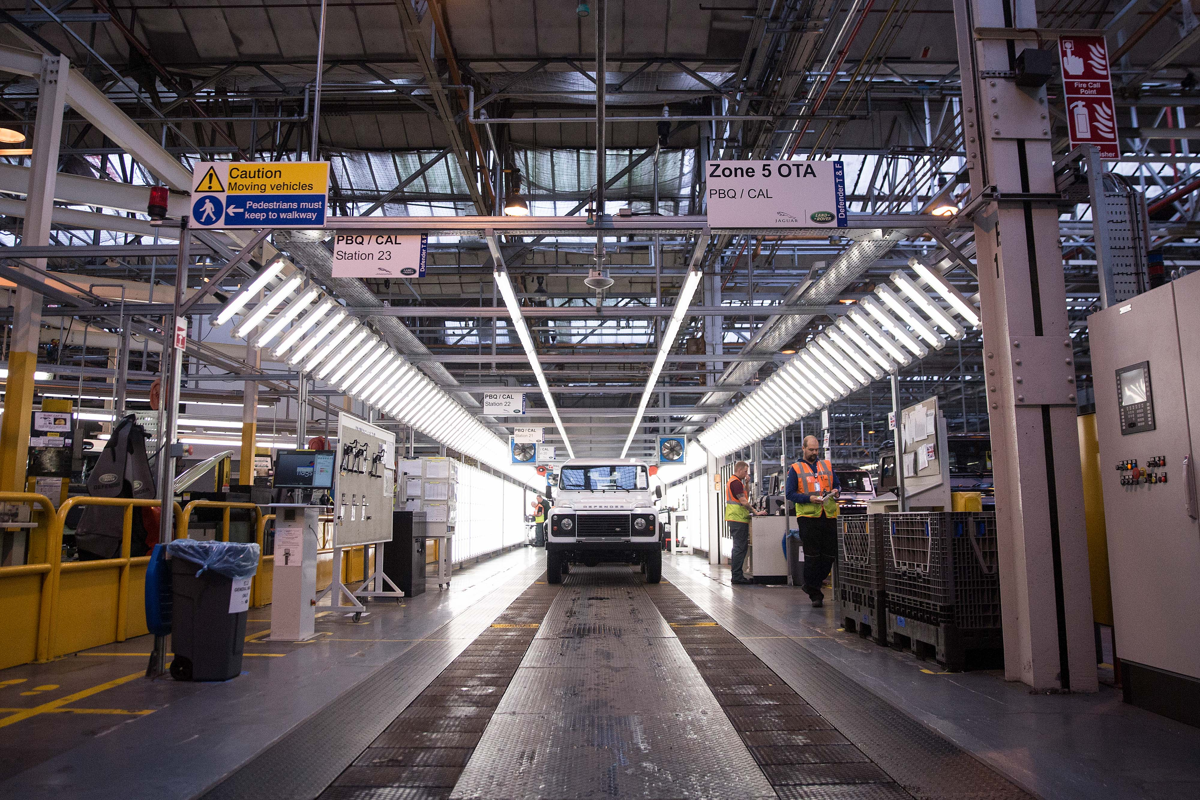 Production Of Land Rover Defenders At Tata Motors Ltd.'s Jaguar Land Rover Vehicle Manufacturing Plant