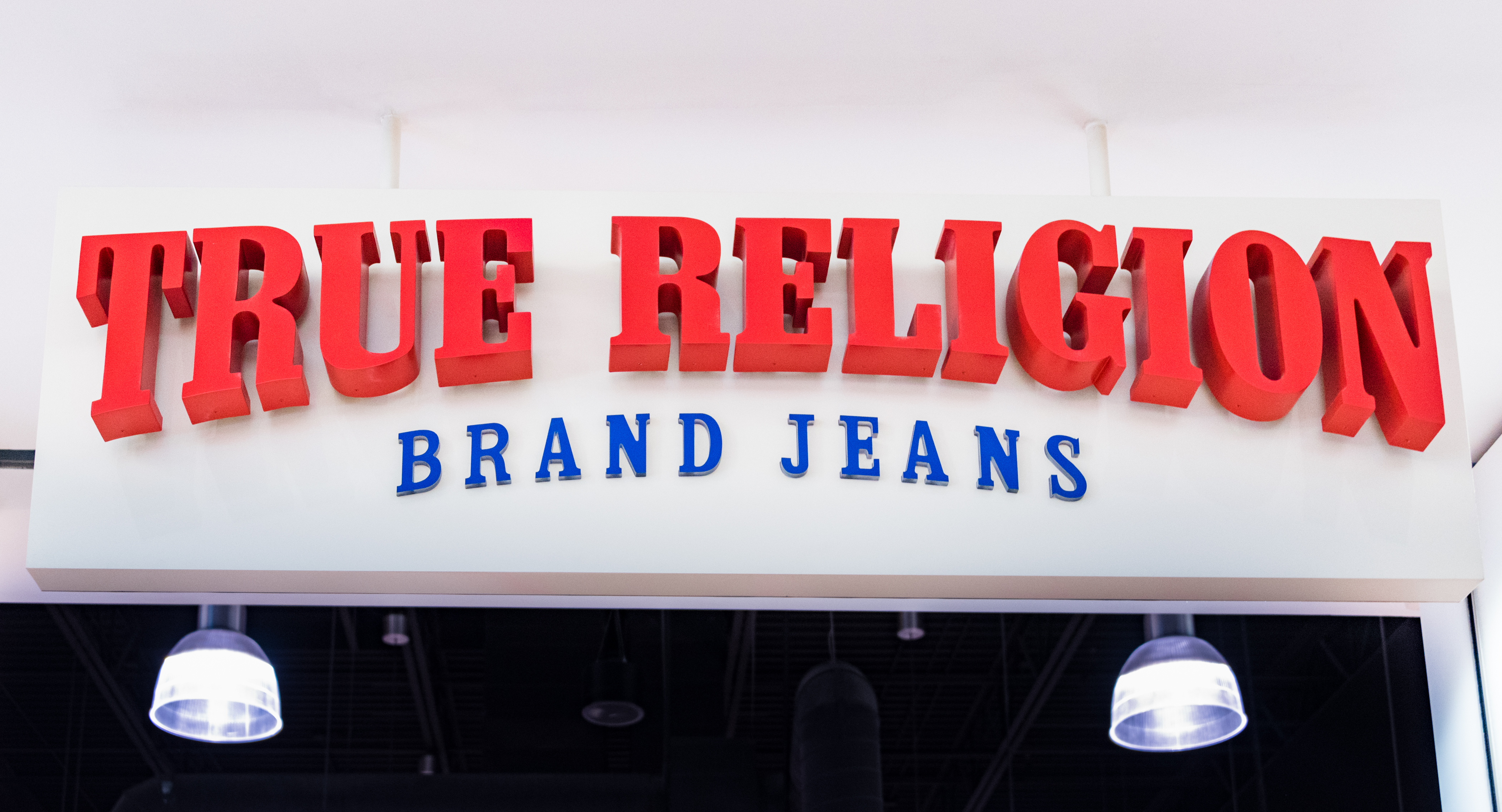 True Religion Brand Jeans shop entrance: The company sell