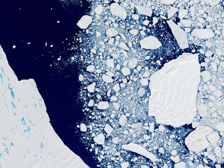 A satellite view of Larsen B Ice Shelf