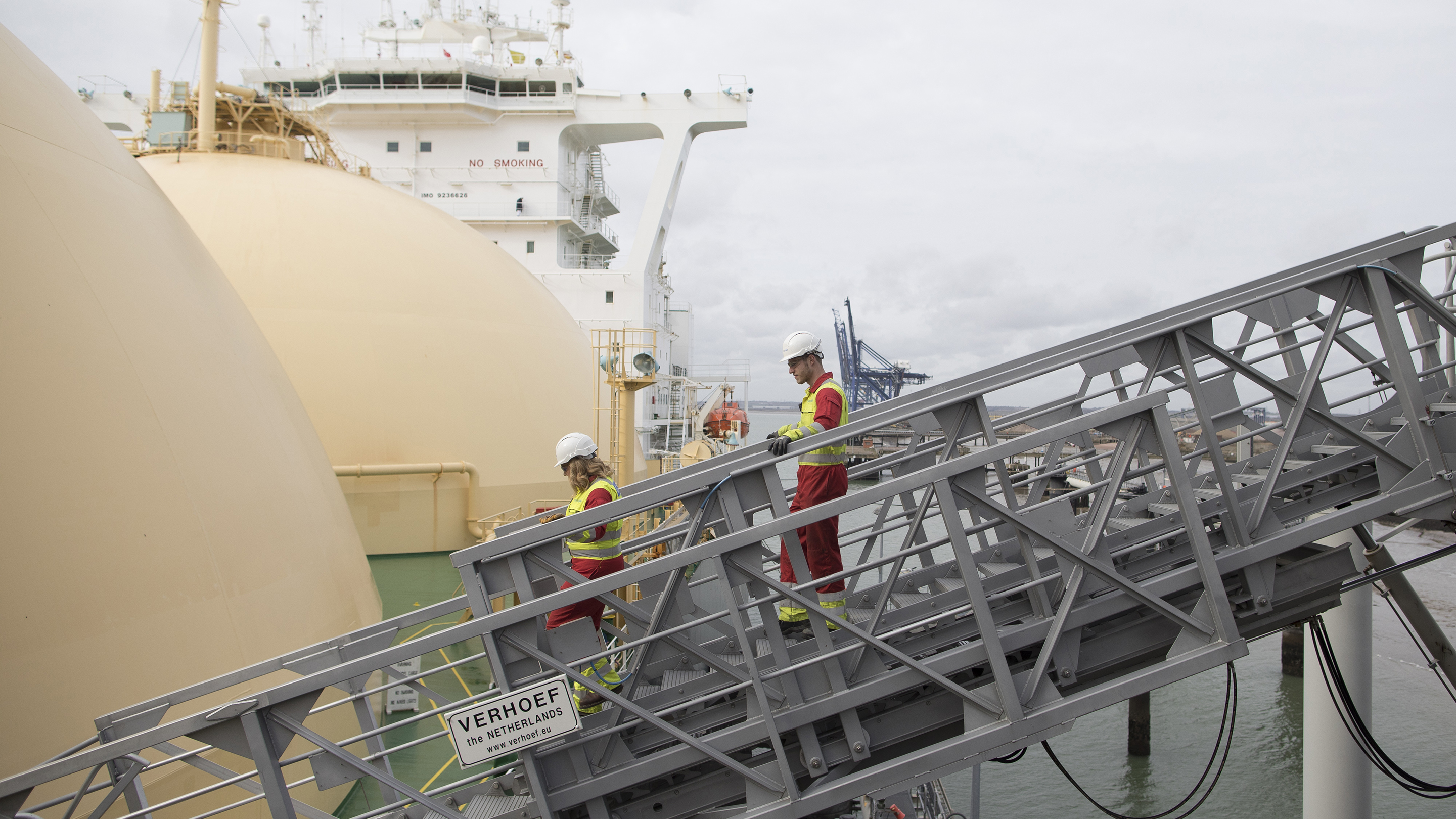 Shipment Of Liquefied Natural Gas (LNG) Arrives At National Grid Plc's GrainLNG Plant