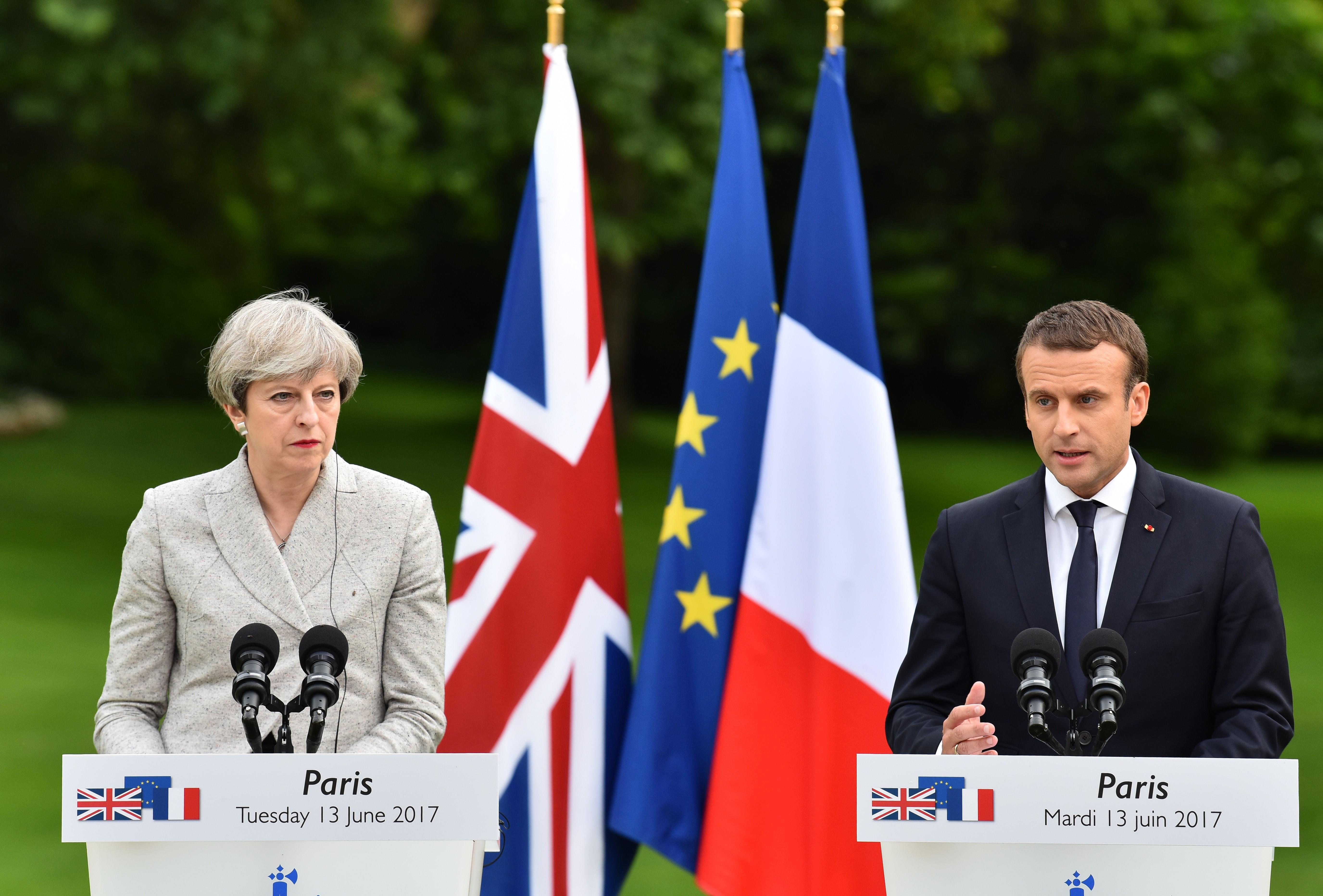 Emmanuel Macron - Theresa May meeting