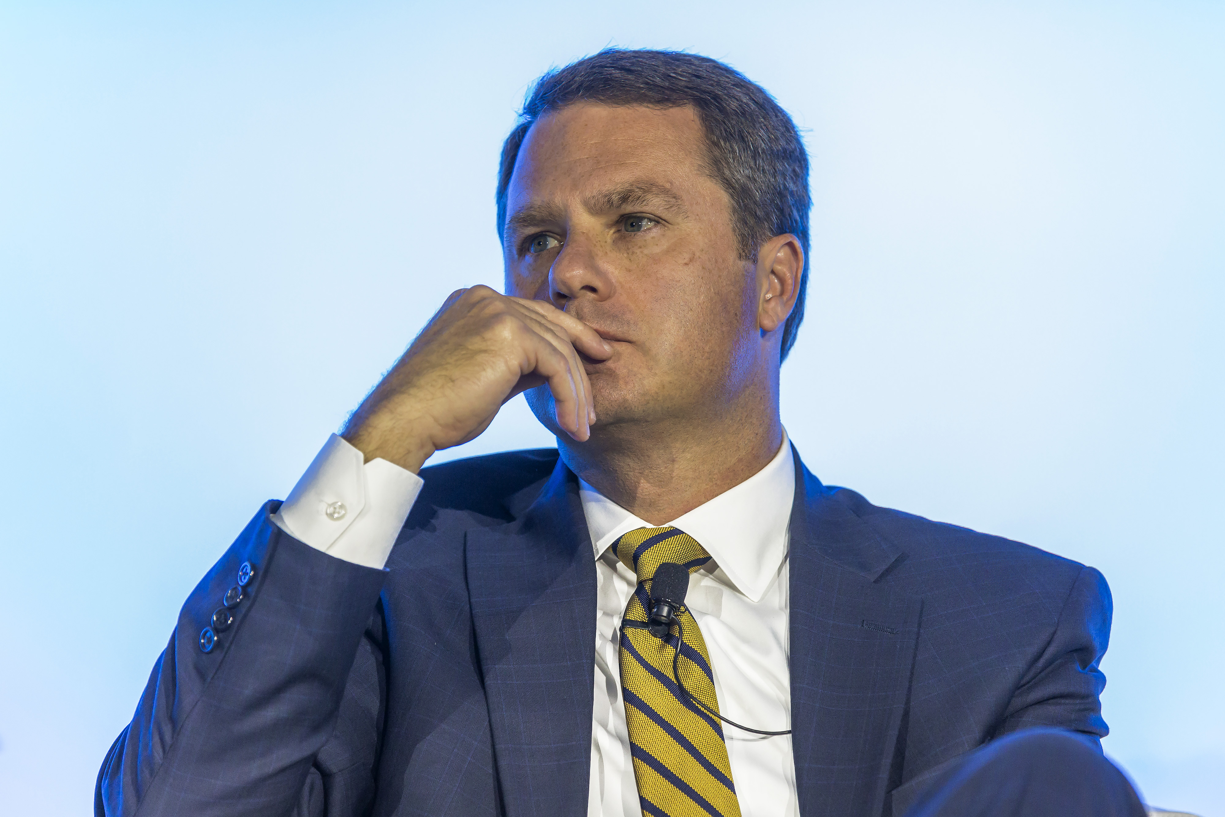 Doug McMillon, chief executive officer of Wal-Mart Stores Inc., pauses during a panel session at the 61st Global Summit of the Consumer Goods Forum (CGF) in Berlin, Germany, on Thursday, June 22, 2017.