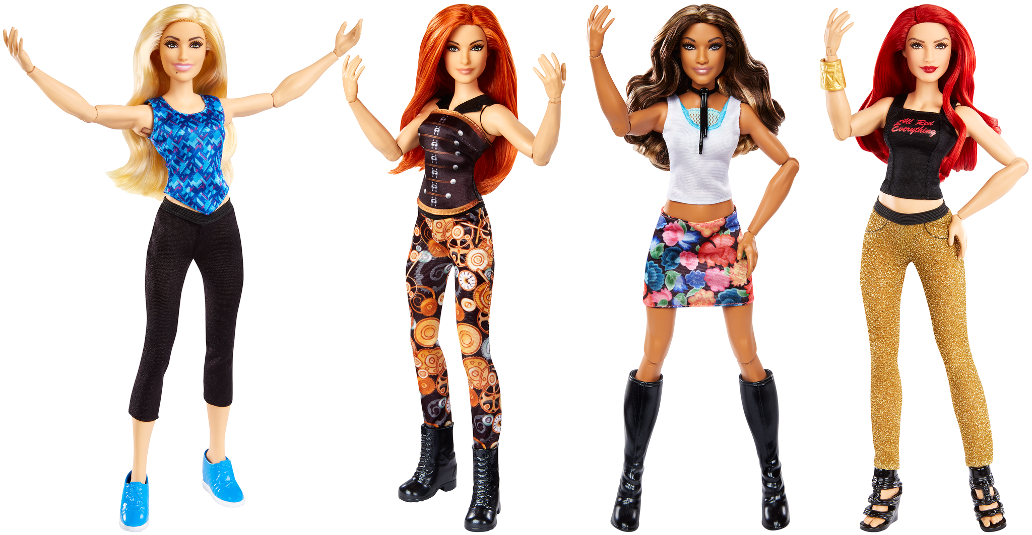 New dolls from WWE and Mattel.