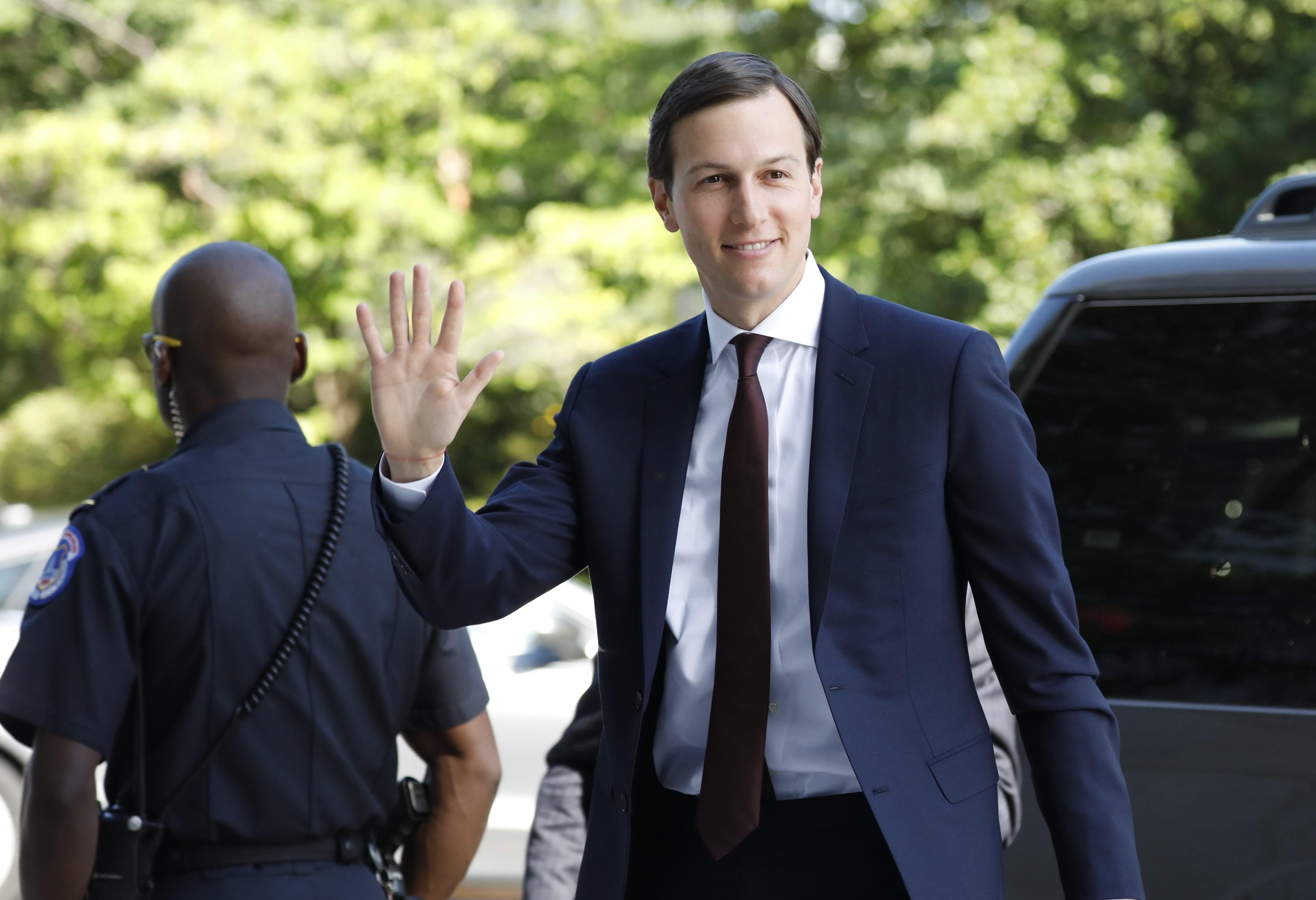 White House Senior Adviser Kushner arrives for closed session of  the Senate Intelligence Committee in Washington