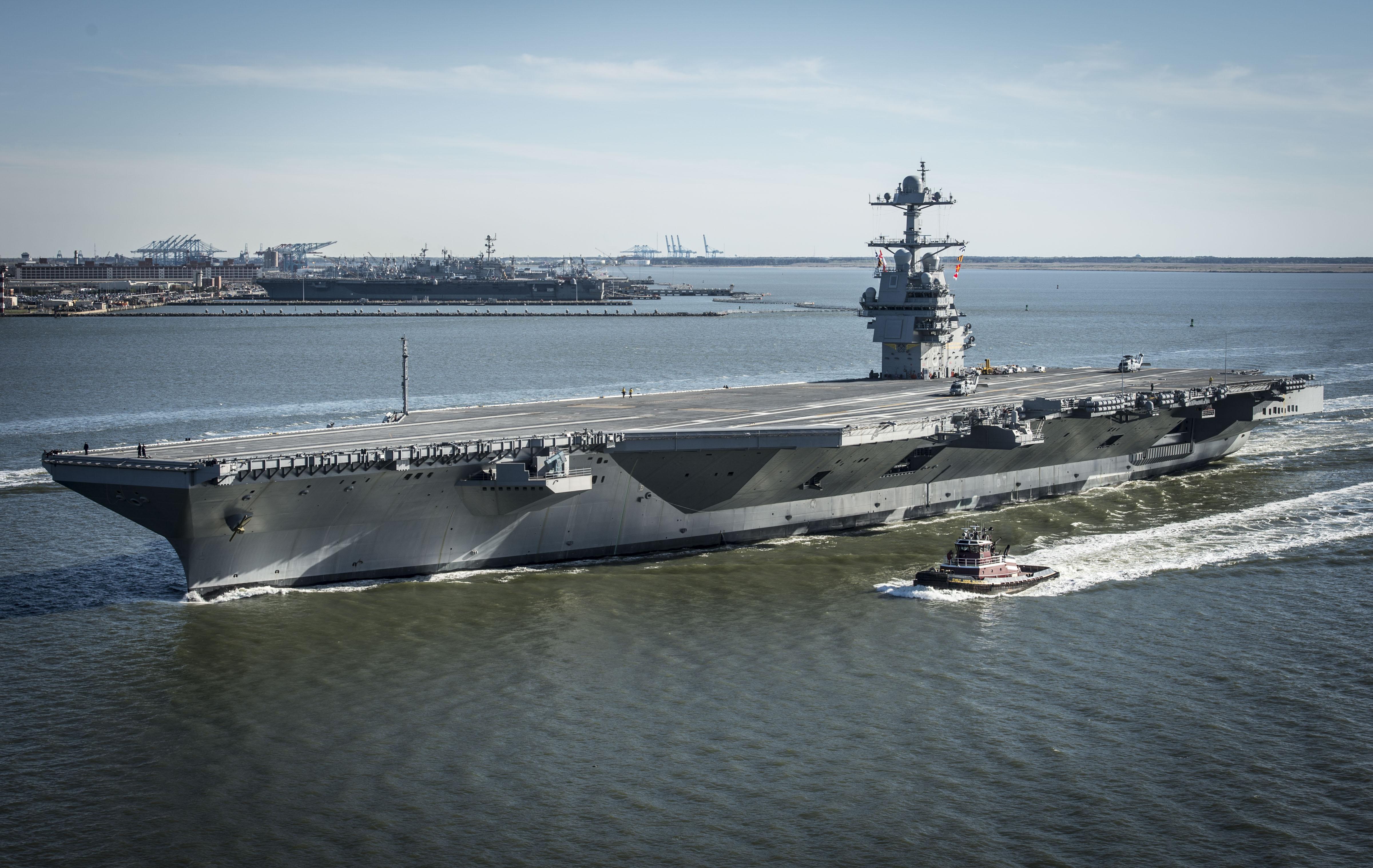 USS Gerald R. Ford Begins Builder's Sea Trials