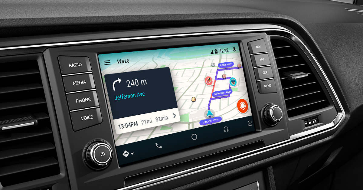 Waze is now available in Android Auto.