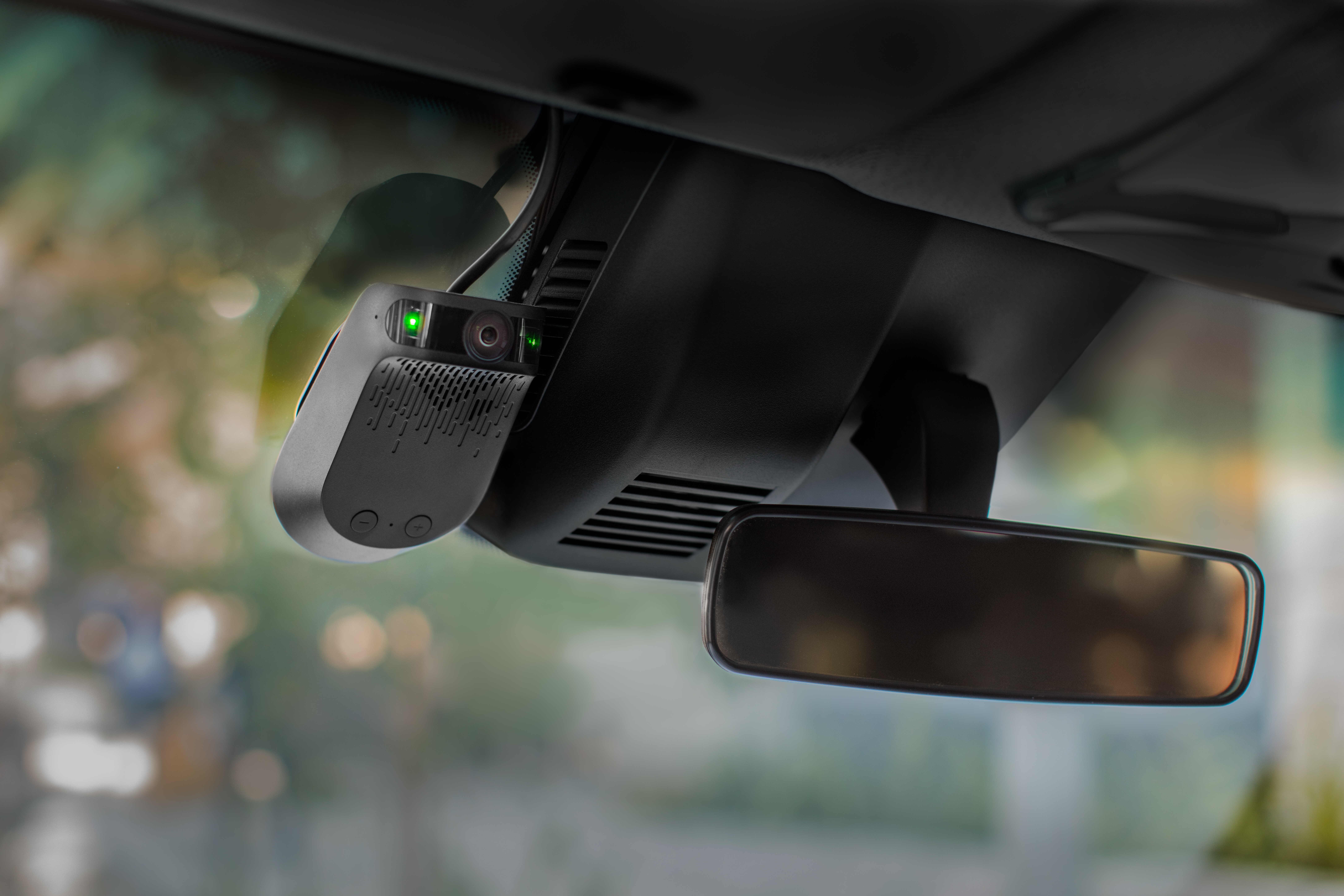 Nauto's device helps track driver behavior. The company announced Wednesday, July 19, 2017, it raised $159 million in a Series B financing round.