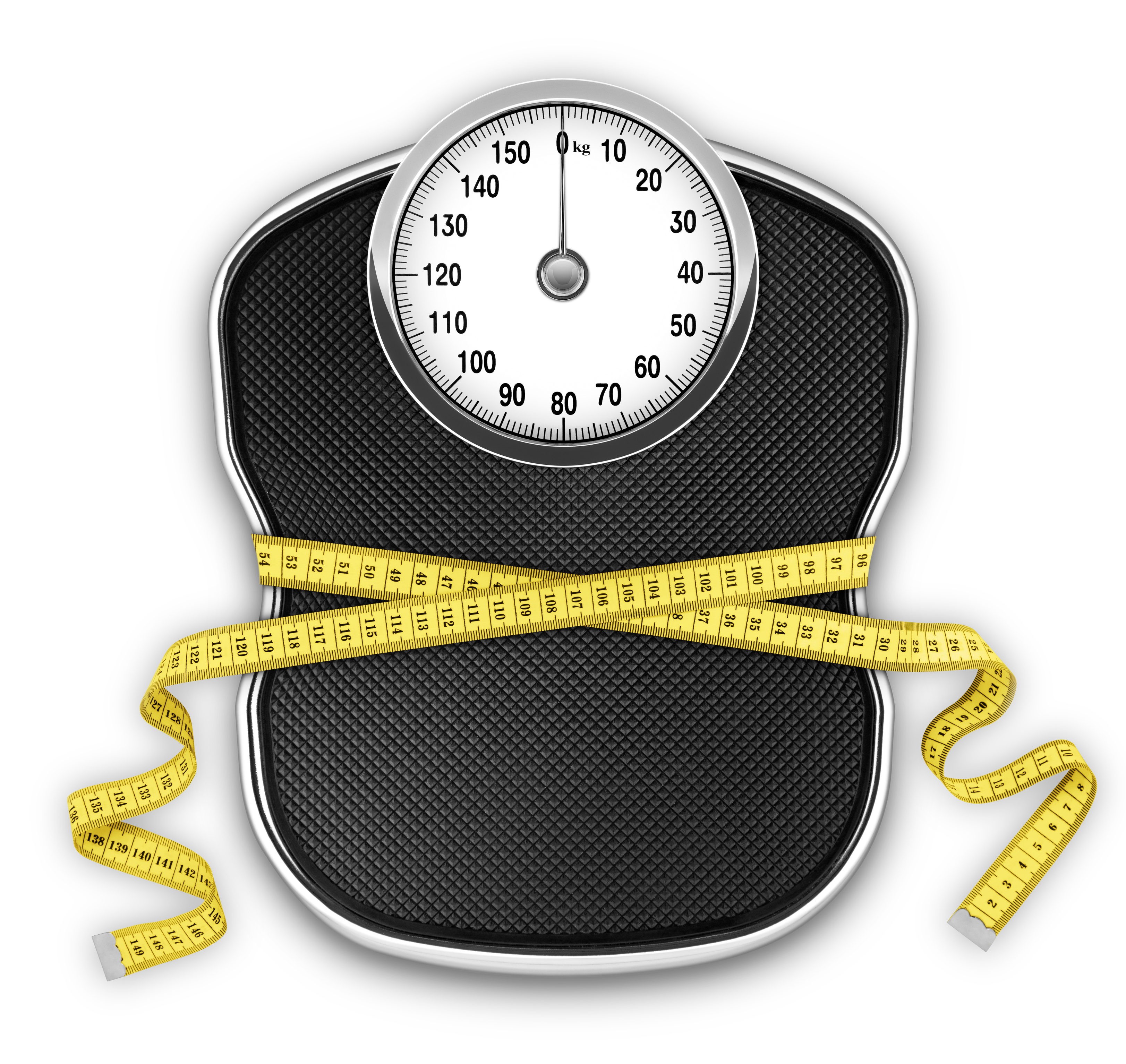 Slimming Scale (kg) (with Clipping Path)