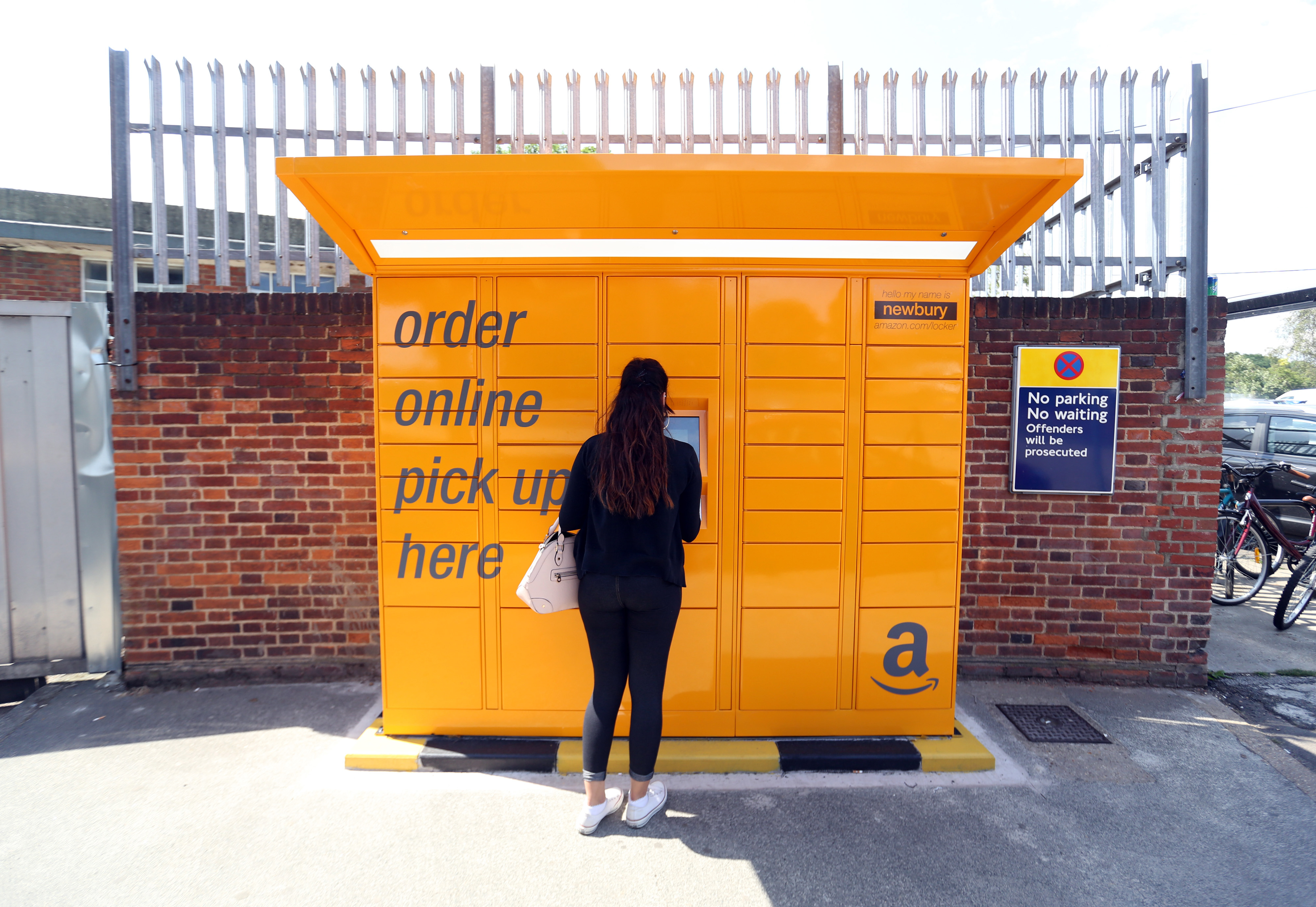 An Amazon pickup and collect locker.