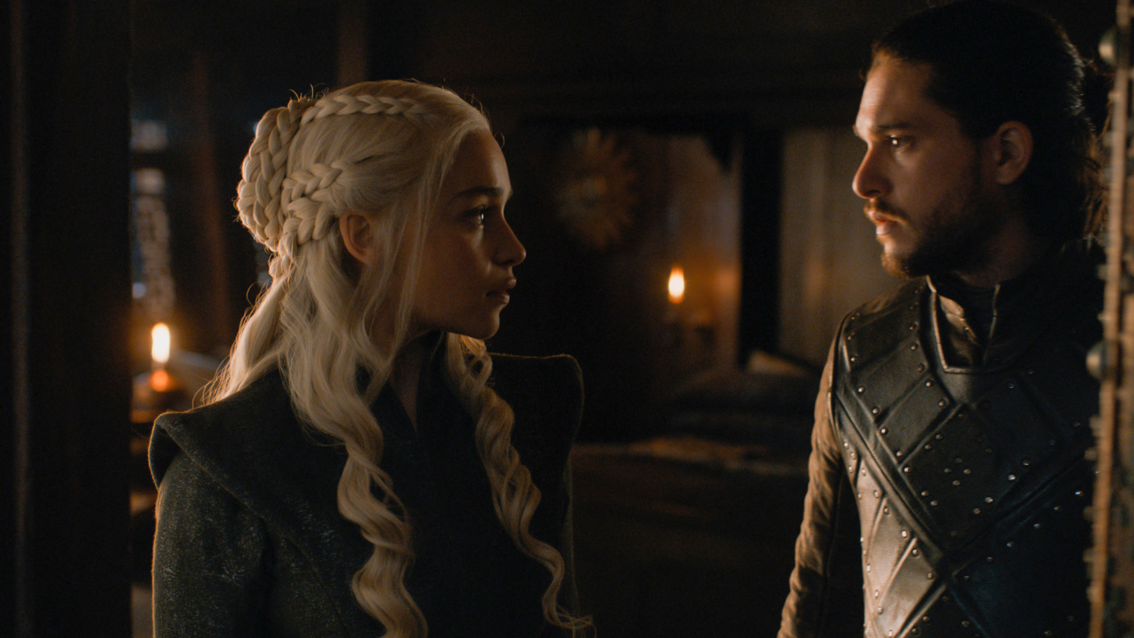"Emilia Clarke and Kit Harington in season 7 of HBO's ""Game of Thrones."""
