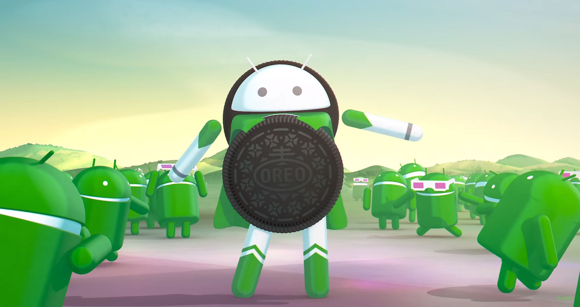 Still from Android Oreo introductory video.