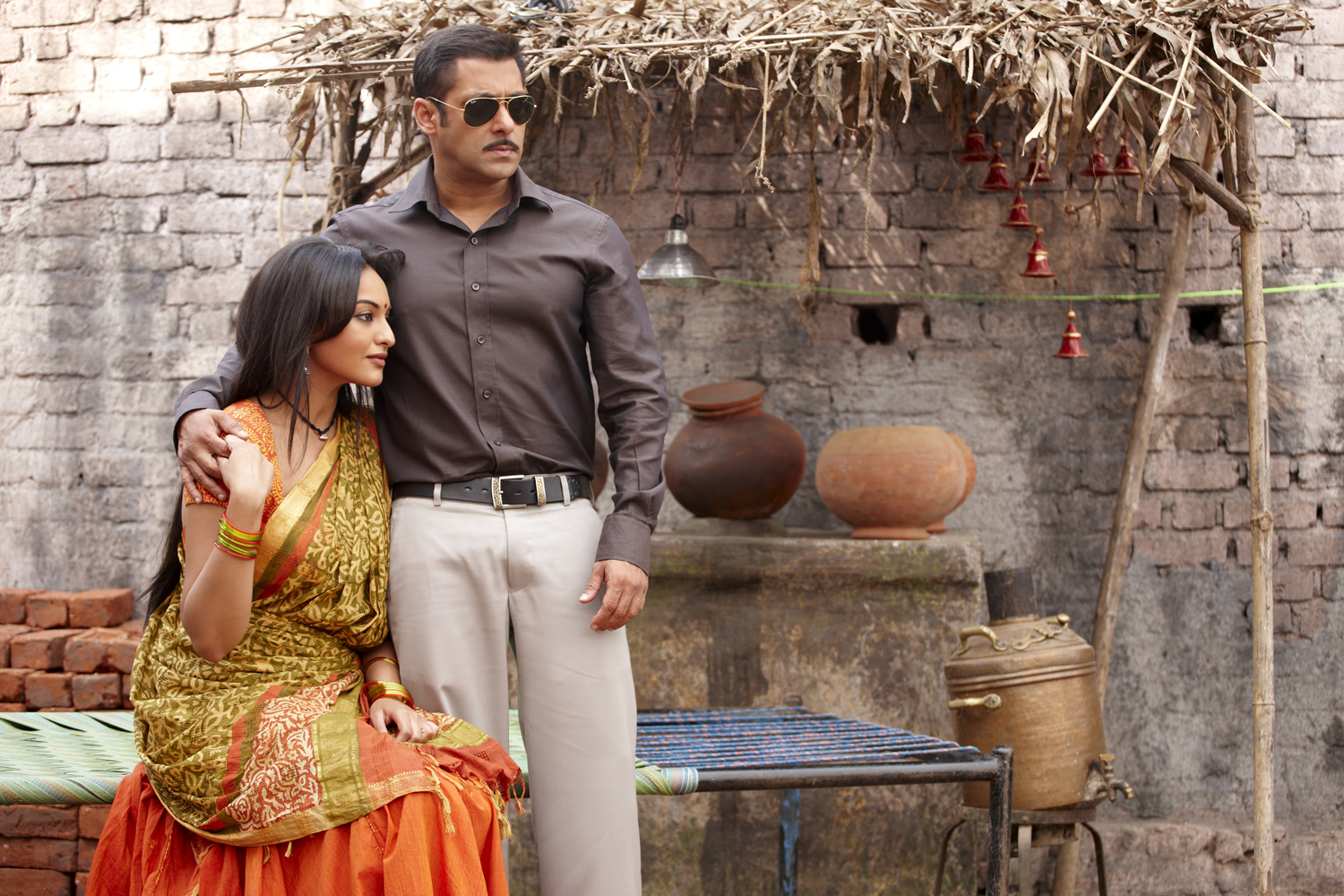 "Salman Khan and Sonakshi Sinha in ""Dabangg."""