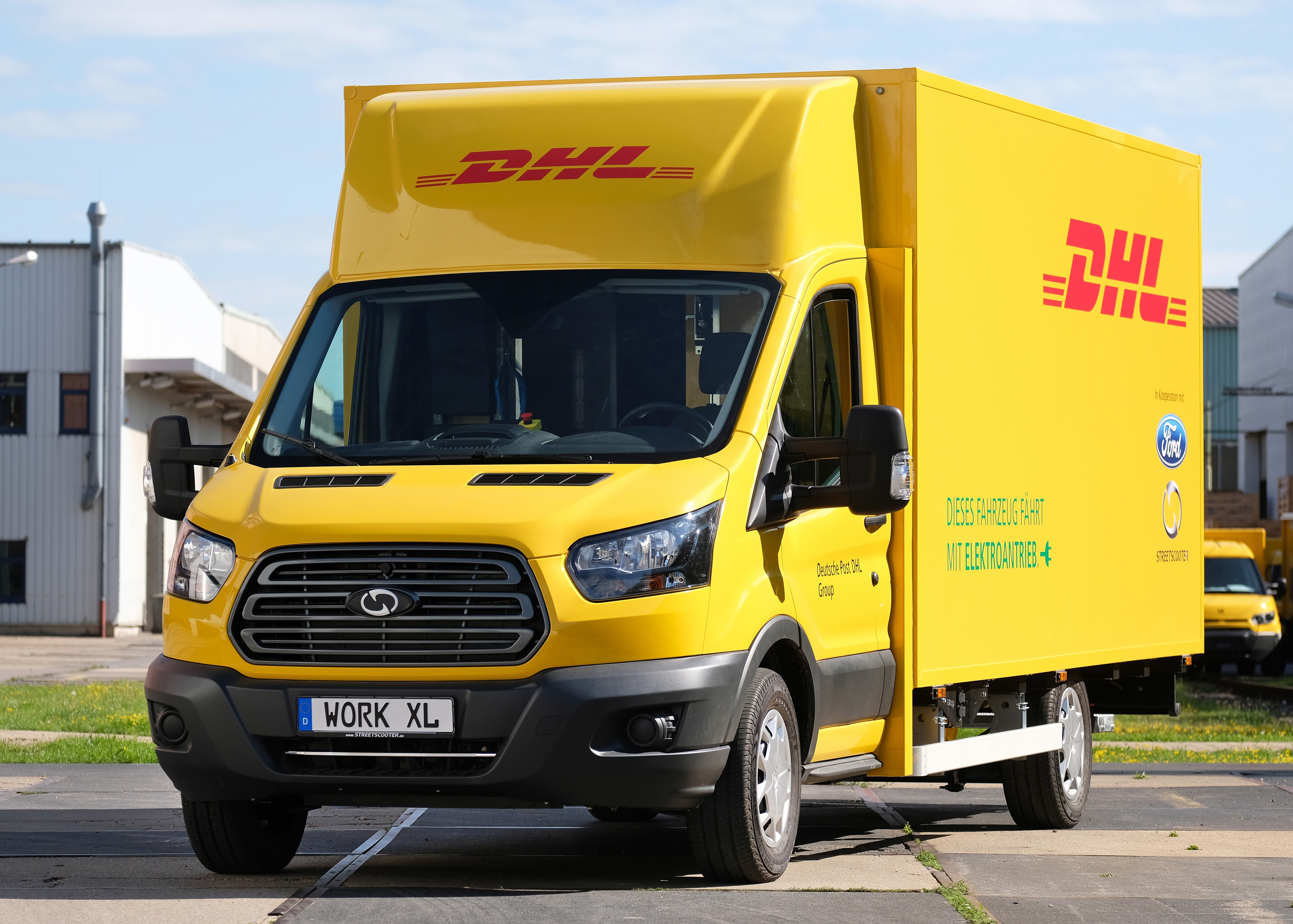 Ford and Deutsche Post DHL Group's StreetScooter Work XL electric delivery van
