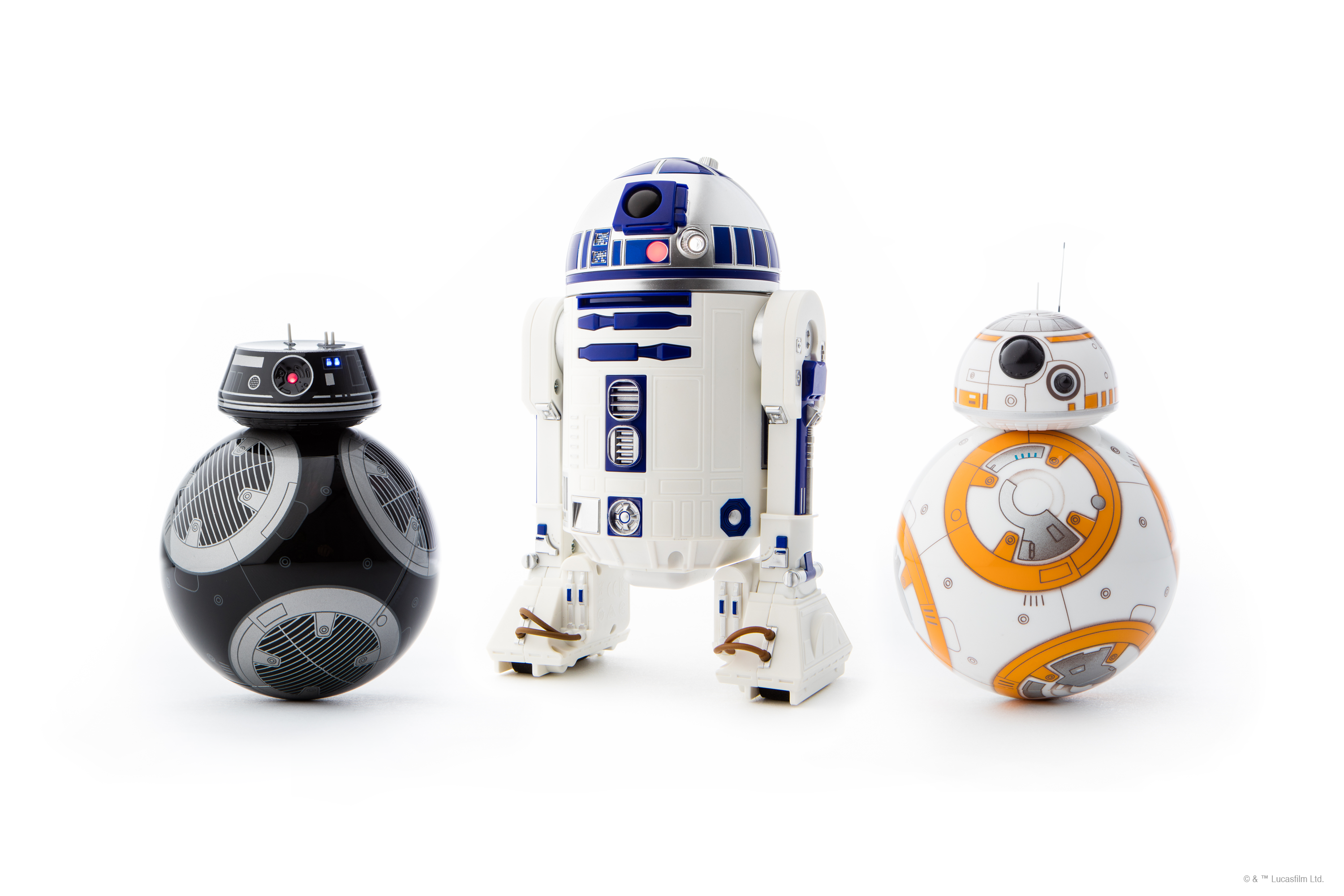 Sphero's new Star Wars droids: BB-9E, R2-D2, and BB-8