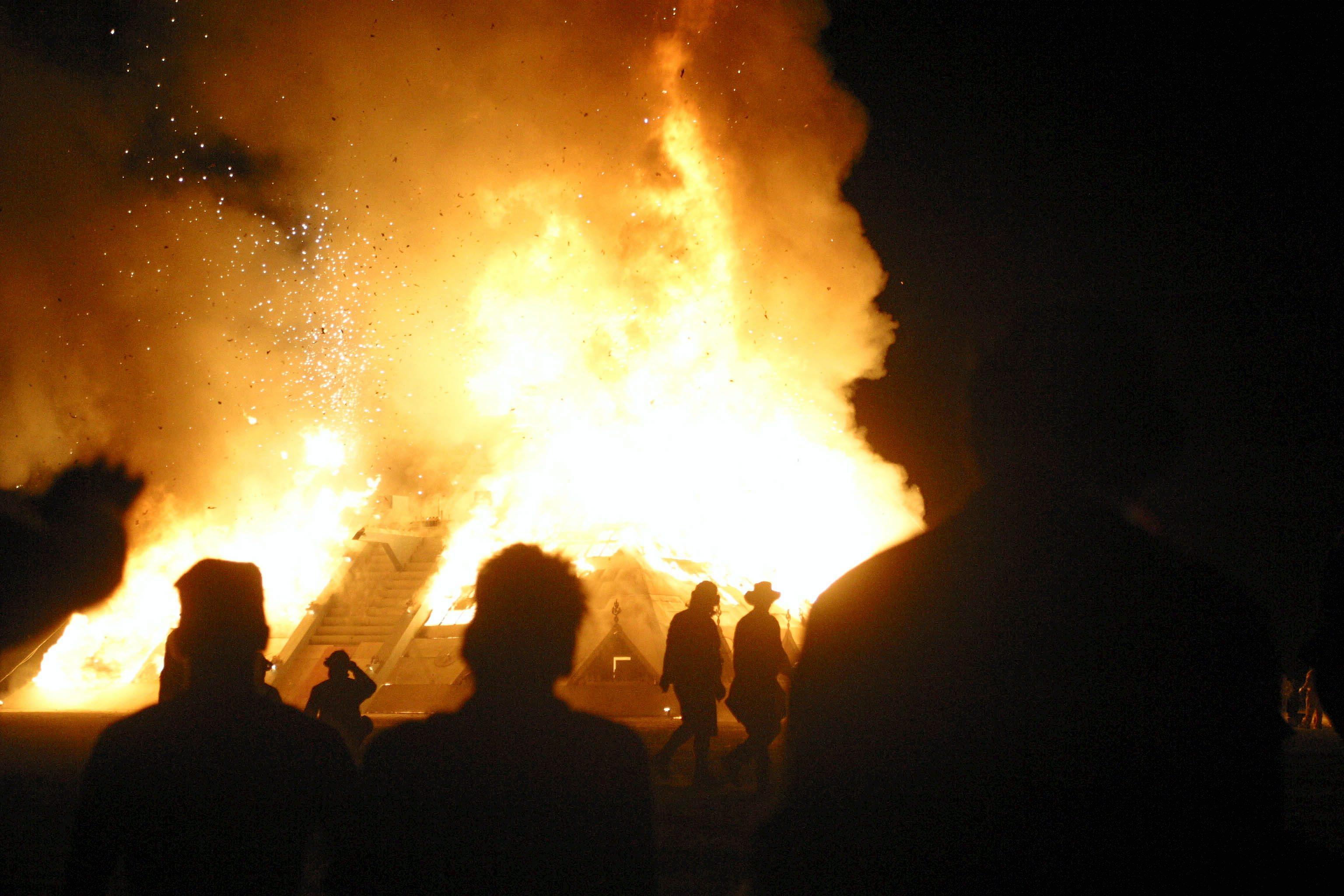 The 2003 Burning Man festival.