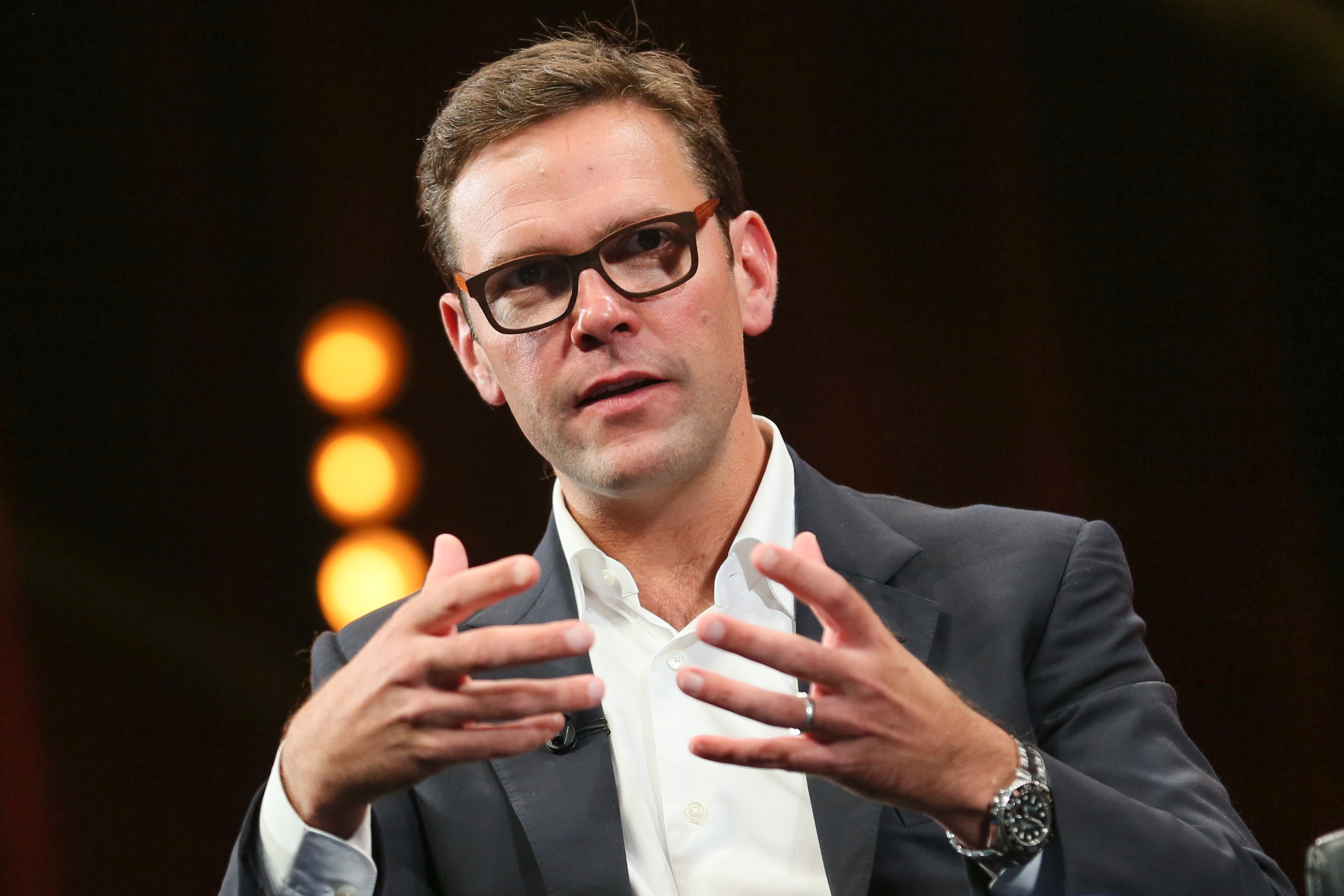 James Murdoch,  COO 21st Century Fox :  Press Conference - MIPCOM 2014 In Cannes