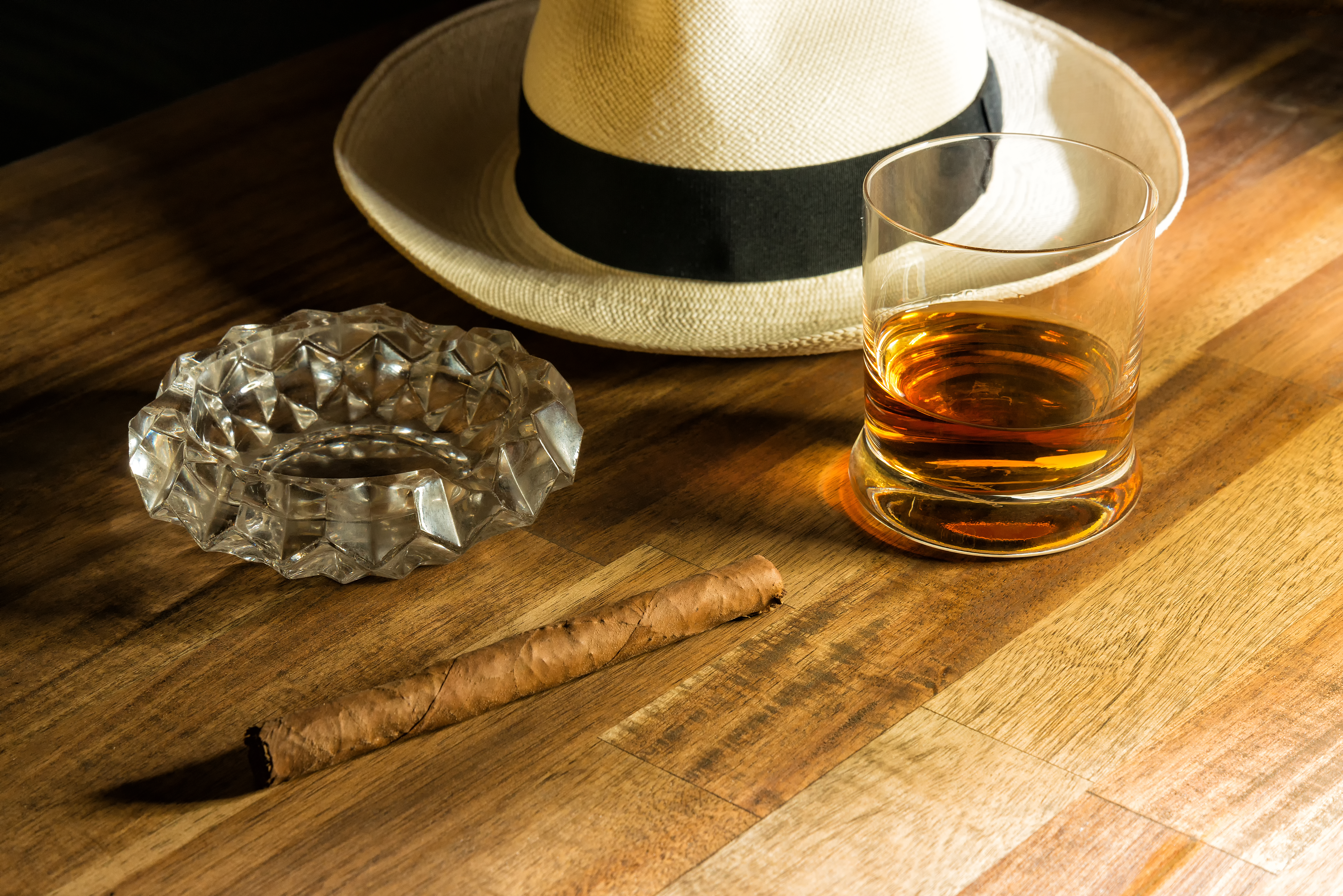 Rum, hat and cigar