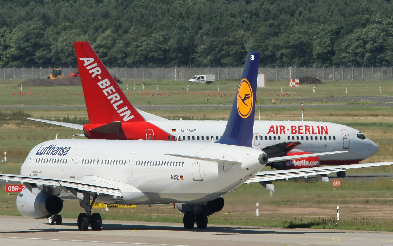 Lufthansa and Air Berlin Planes