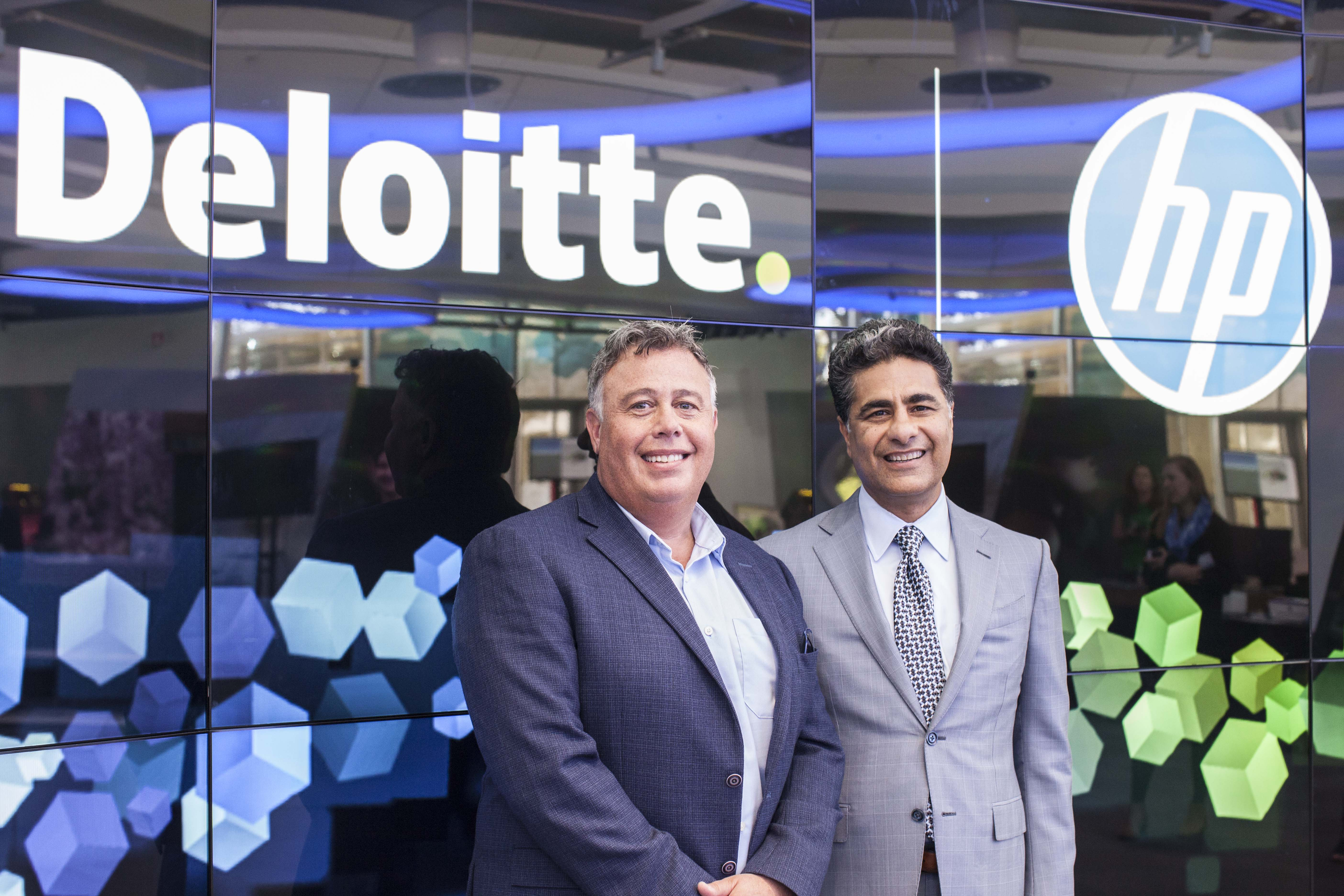HP CEO Dion Wiesler and Deloitte CEO Punit Renjen