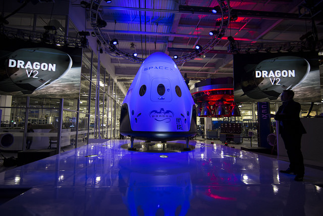 A photo of the SpaceX Crew Dragon spacecraft.