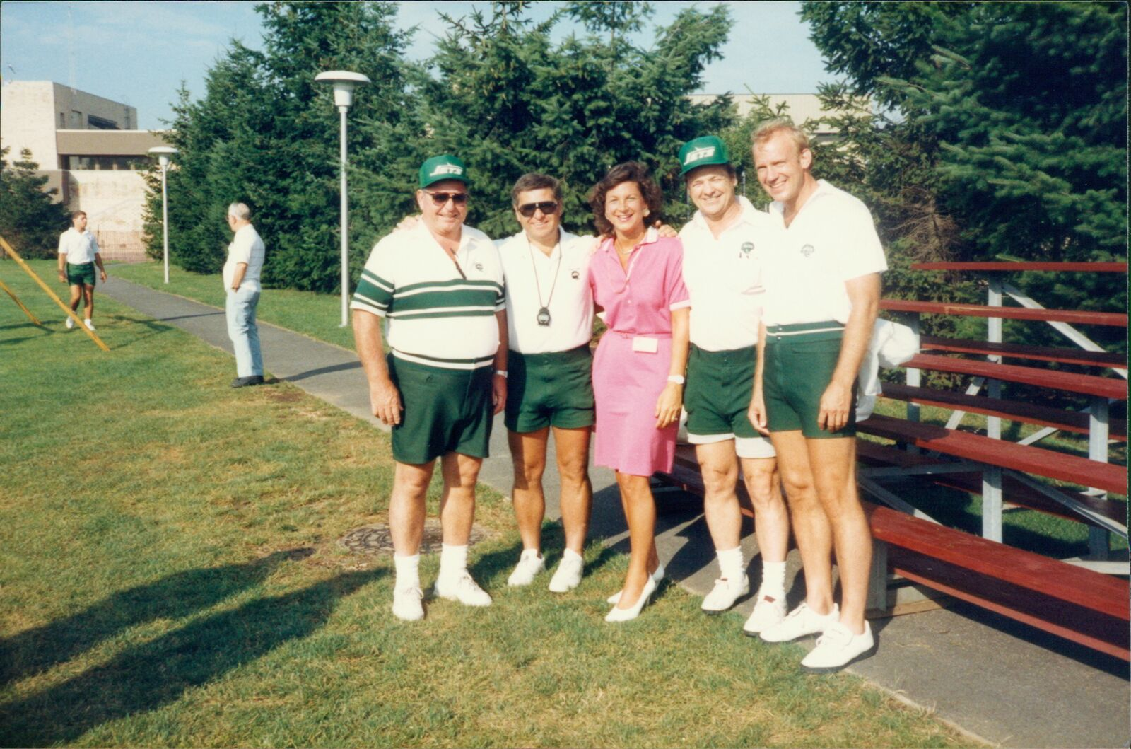 Connie Carberg with other New York Jets scouts.