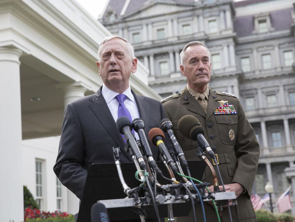 Secretary Mattis Holds News Conference Regarding Situation In North Korea