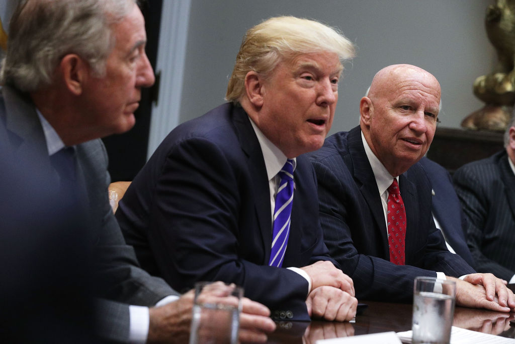 President Trump Meets With House Ways And Means Committee.