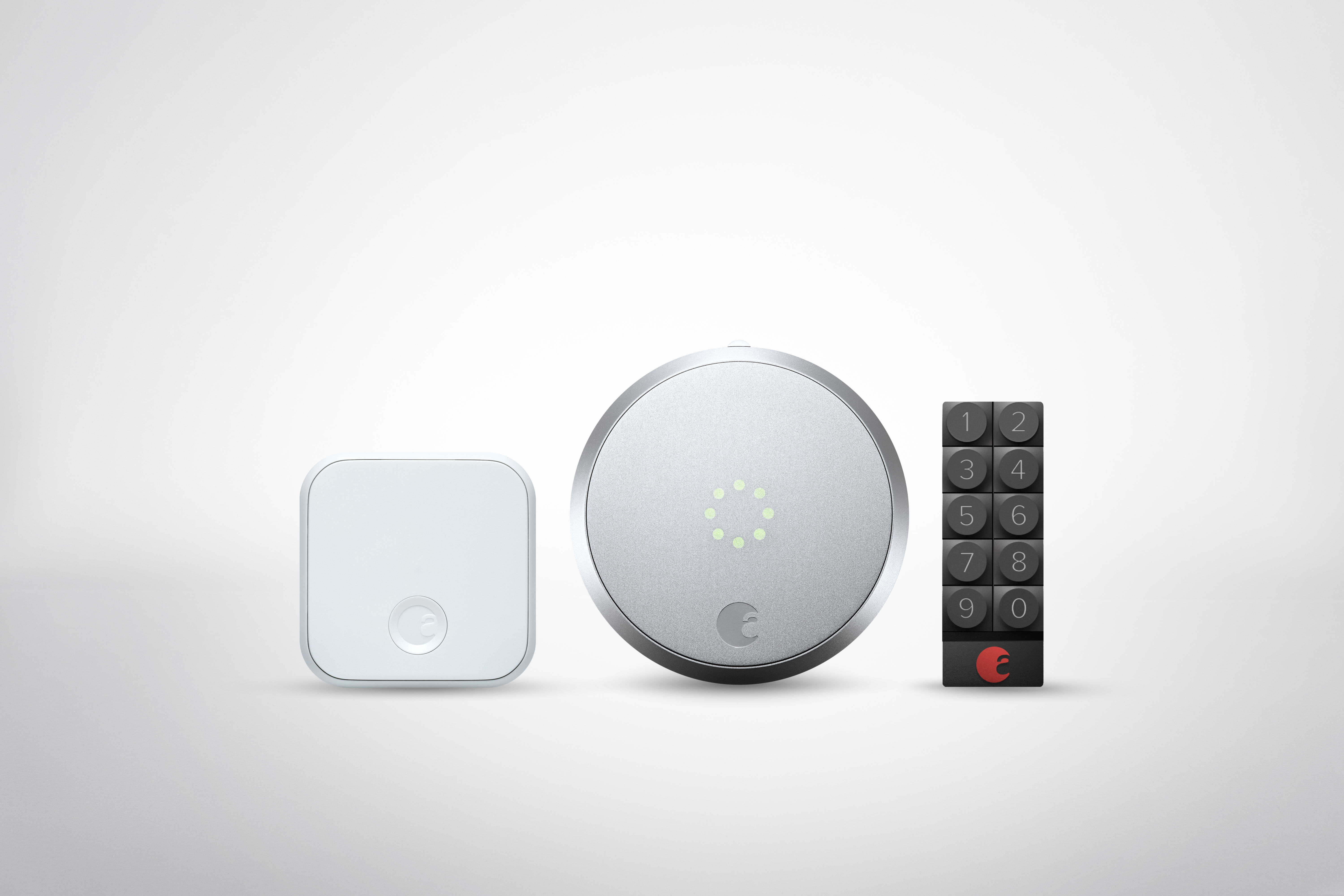 August Smart Lock Pro siler with Connect Keypad