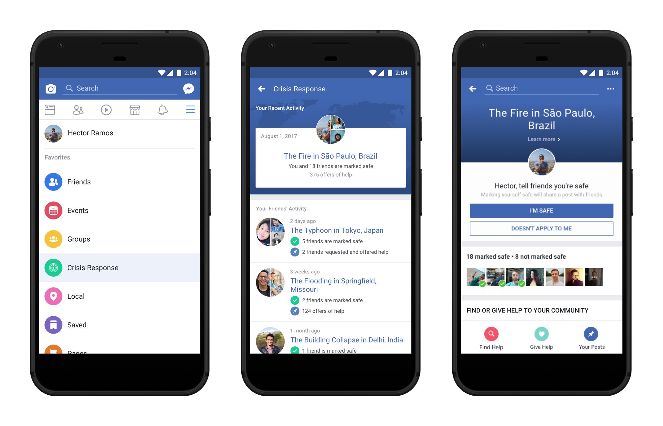 facebook crisis response center launch safety check