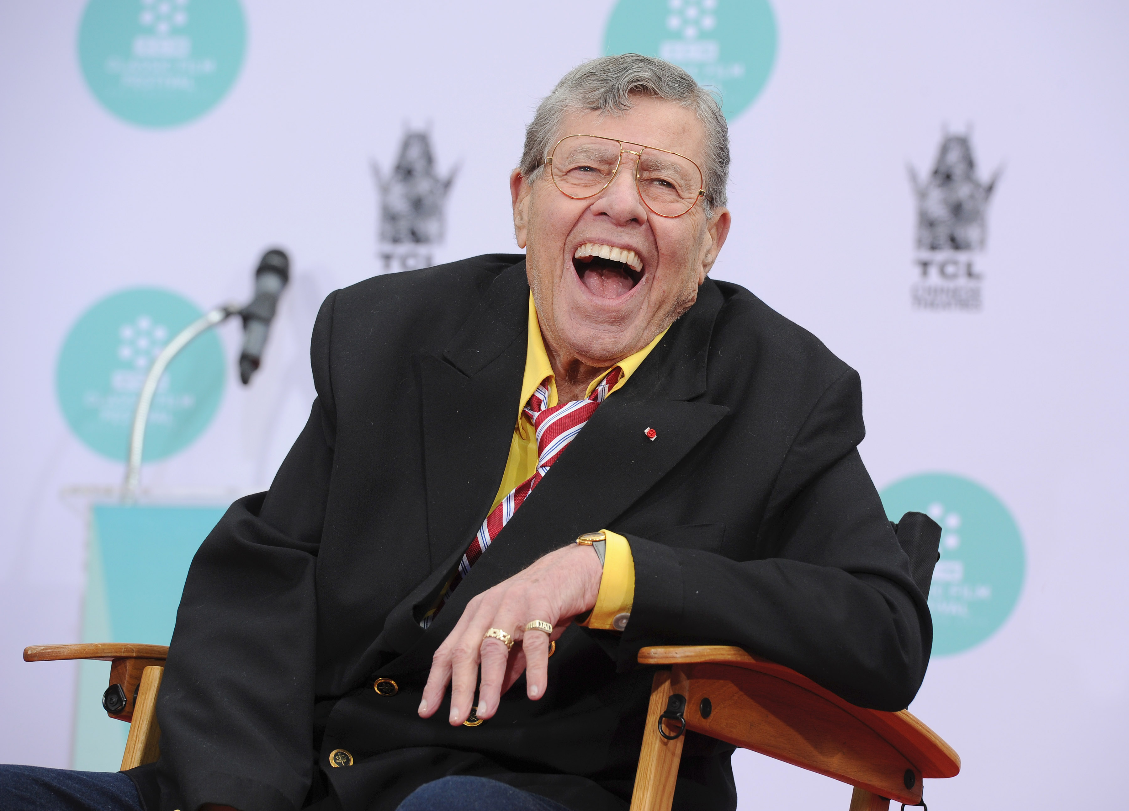 TCM Classic Film Festival - Jerry Lewis Hand And Footprint Ceremony