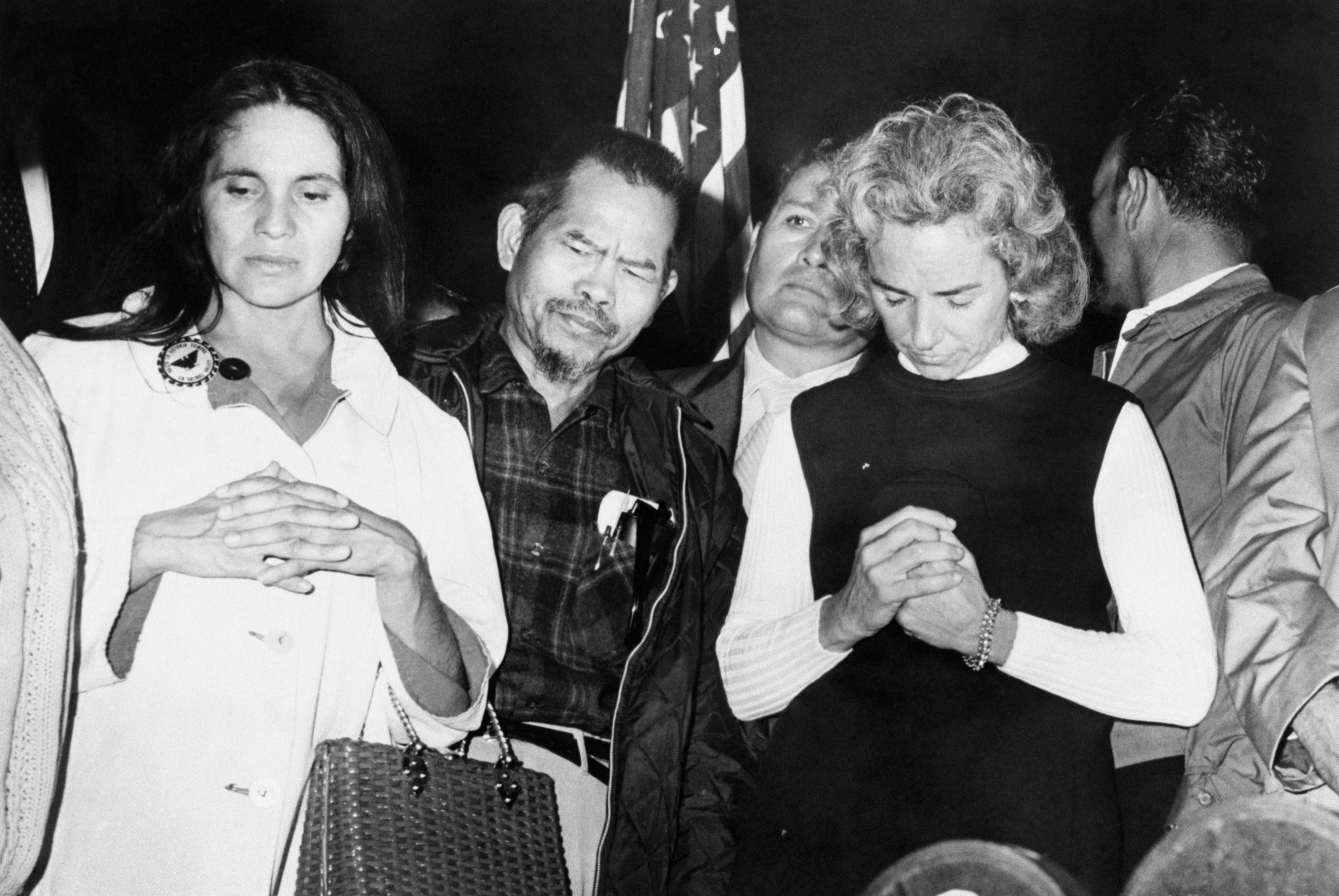 Ethel Kennedy Joins in Prayer for Cesar Chavez