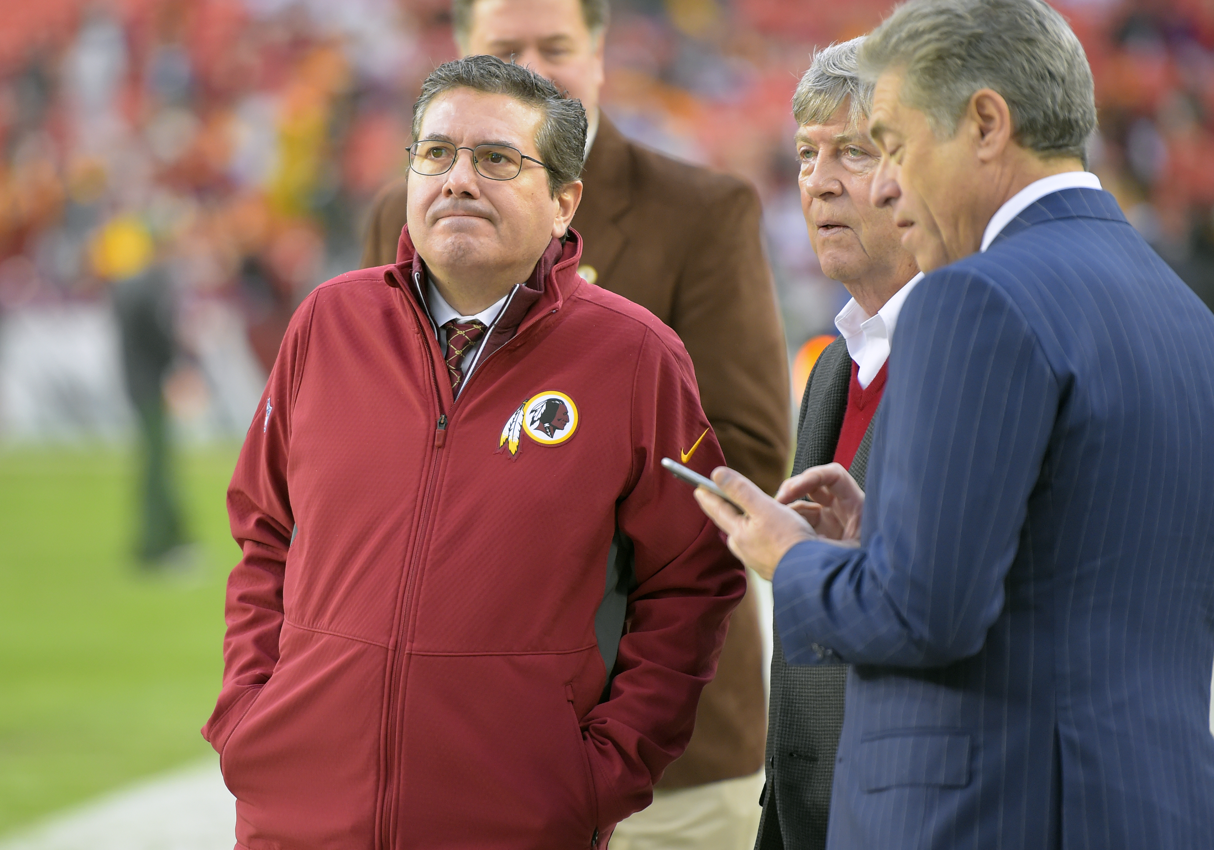 Washington Redskins play the Green Bay Packers