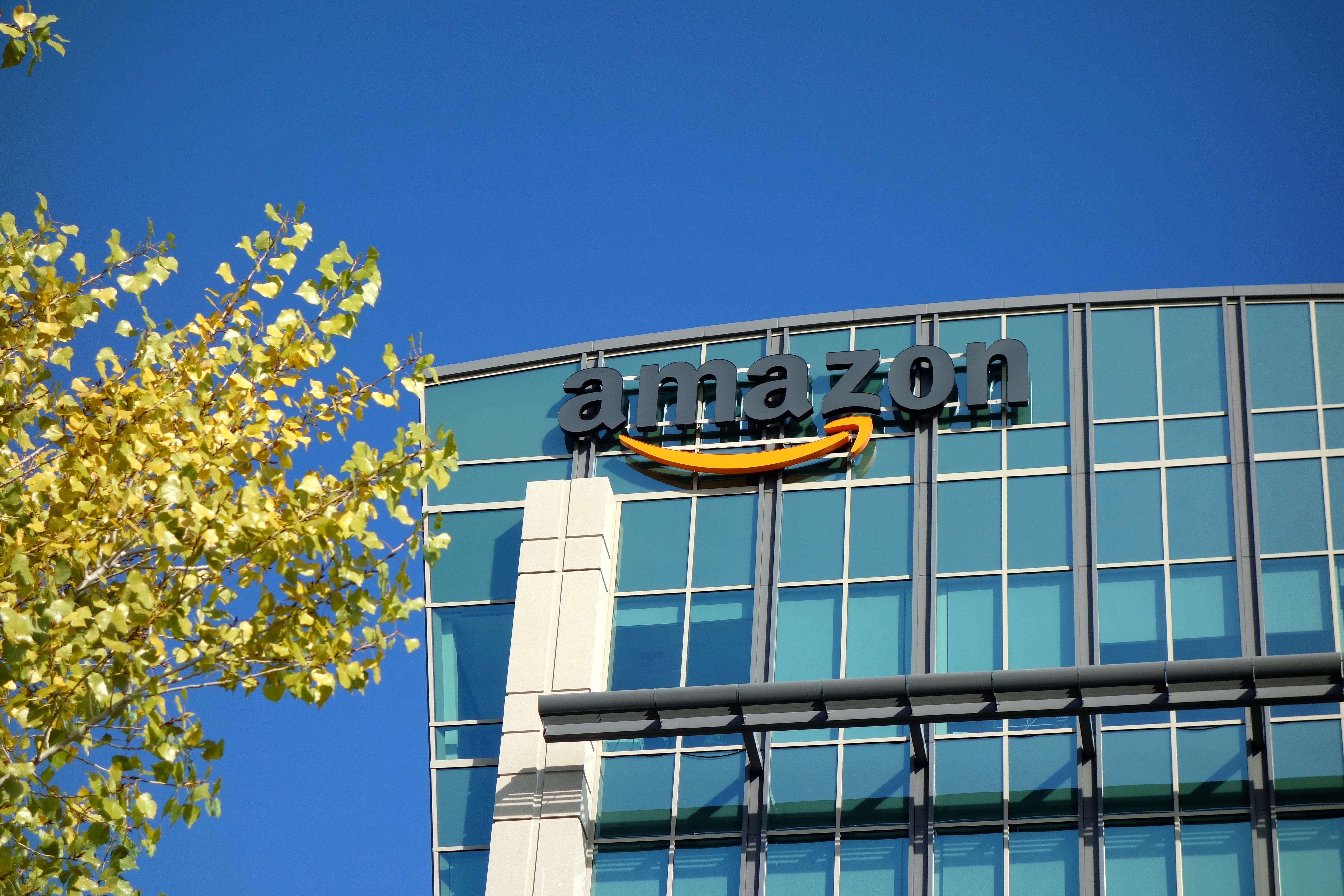Amazon corporate office building in Sunnyvale, California.