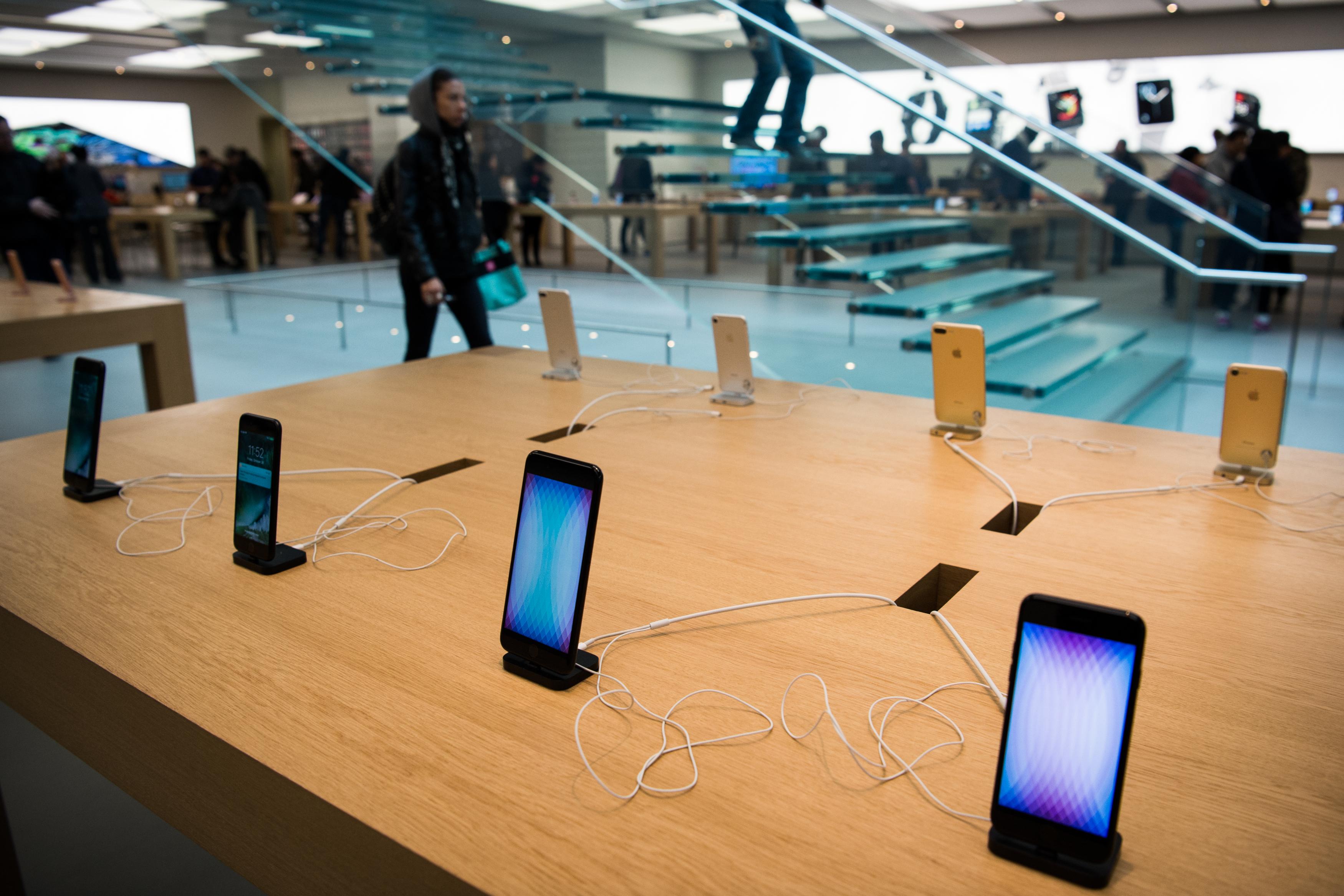 Inside A Retail Location As Apple Watch Nike+ Goes On Sale
