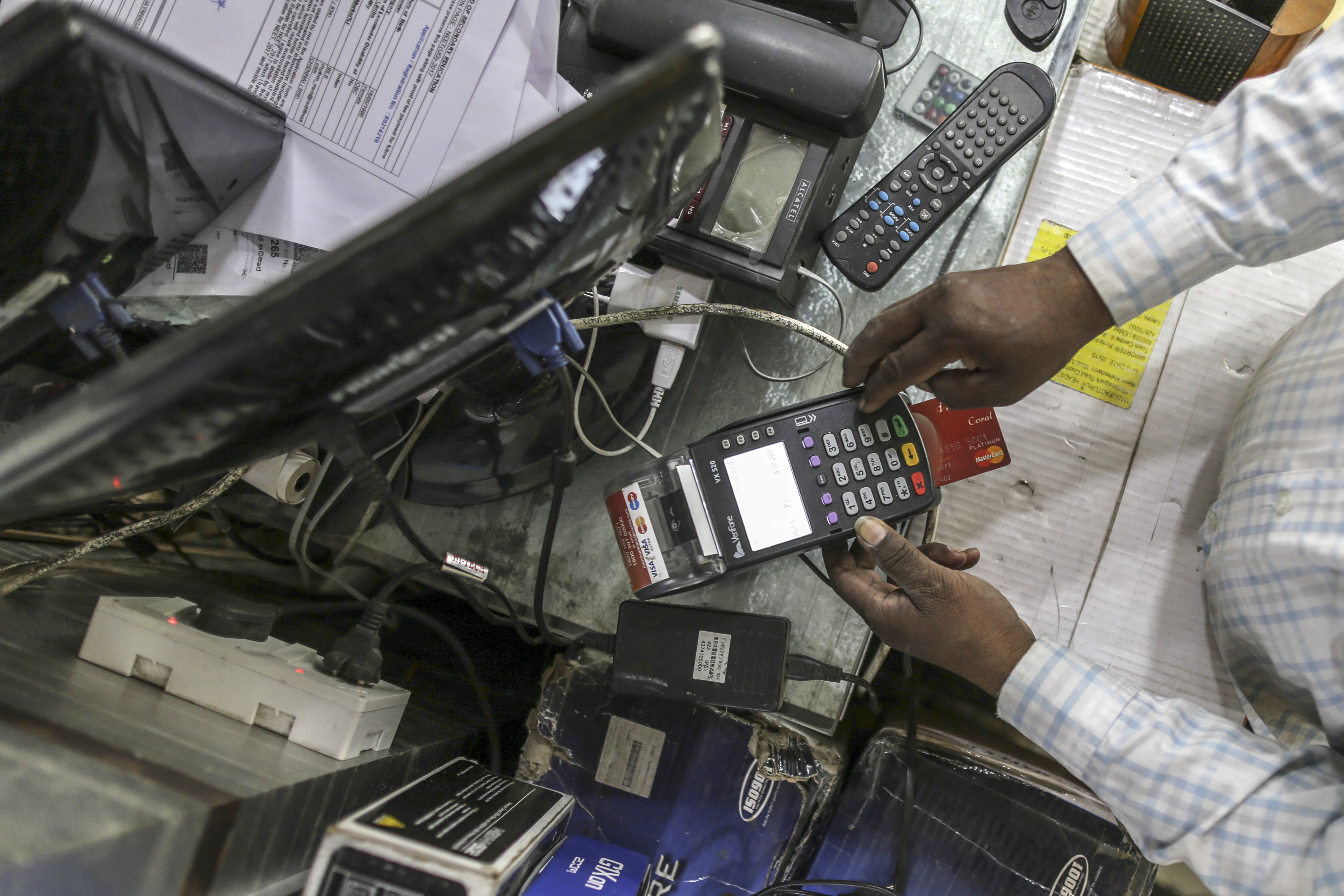 Digital Payment Imagery As Governments Push For E-Payments Continues