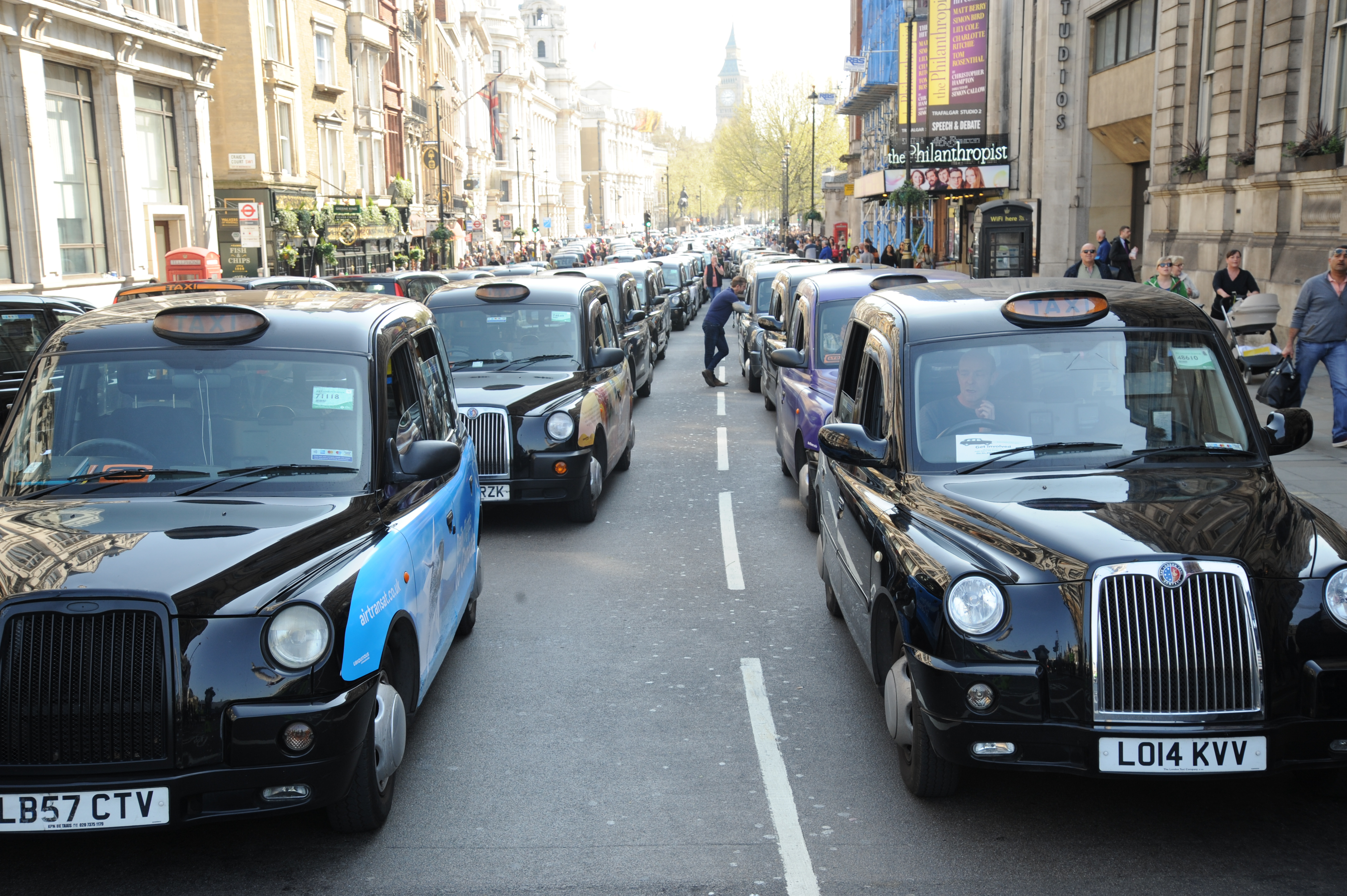 Black Taxi Drivers Protest Against Uber