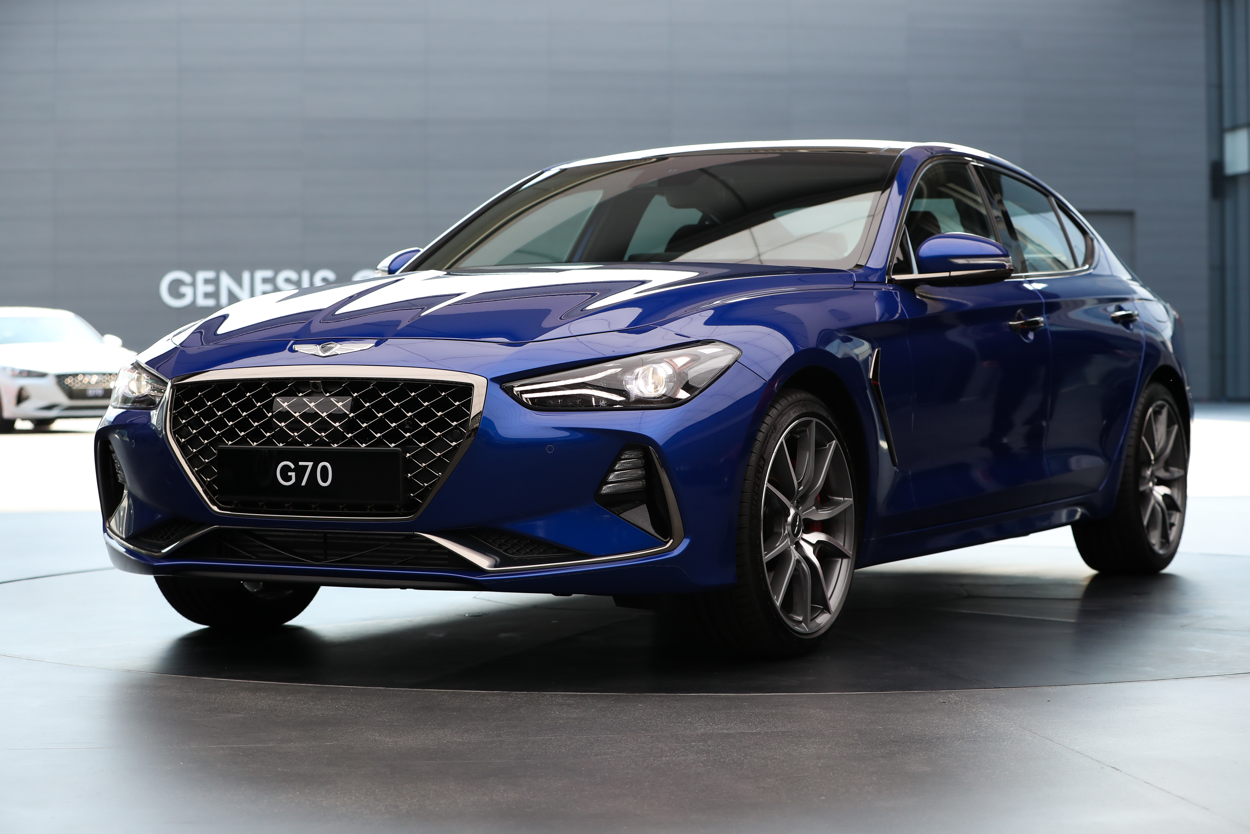 Hyundai Motor Co. Vice Chairman Yang Woong-chul Launches the Genesis G70 Sedan