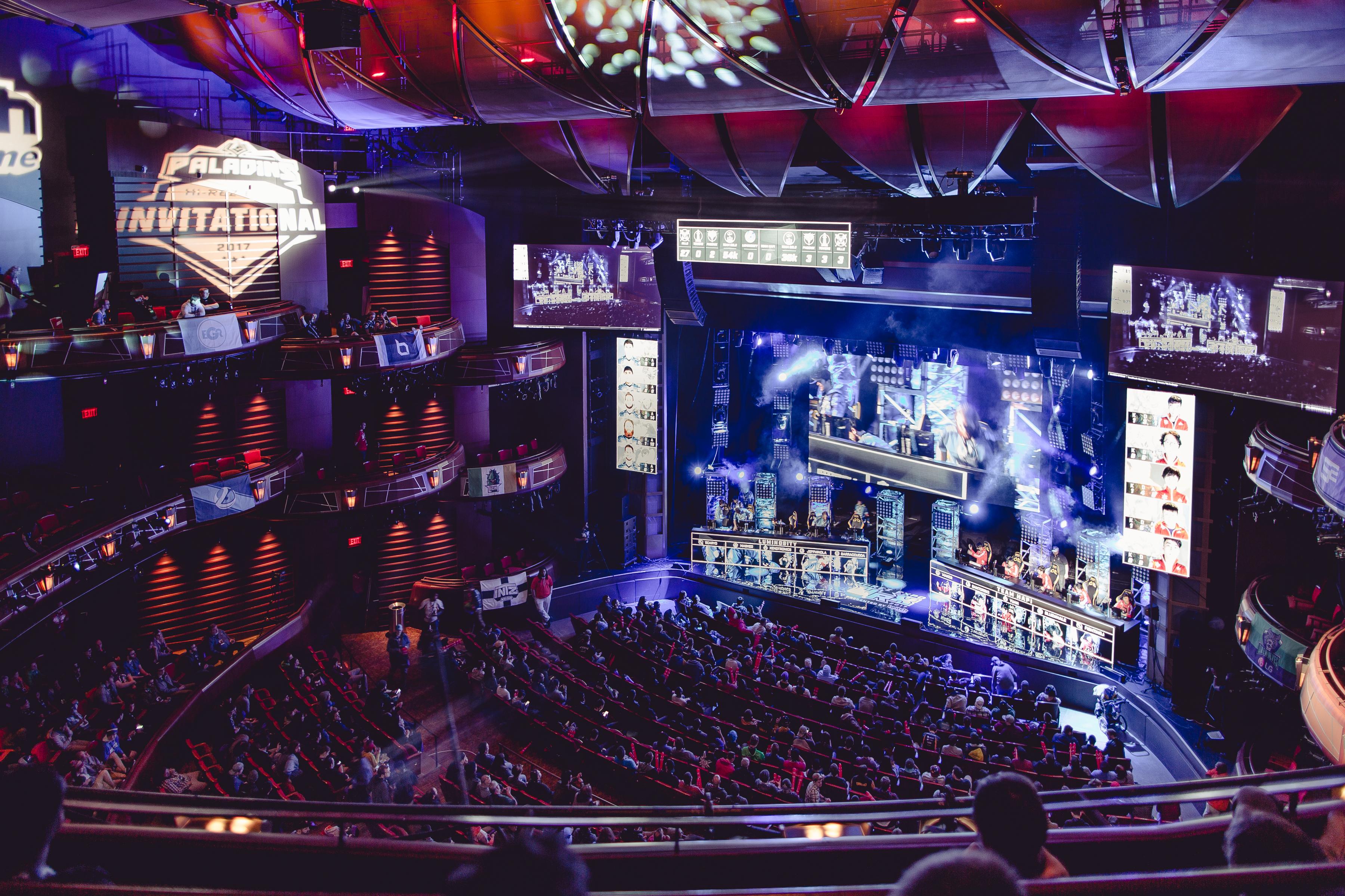 The crowd at the Paladins Hi-Rez Expo Invitational 2017 eSports tournament in Atlanta.