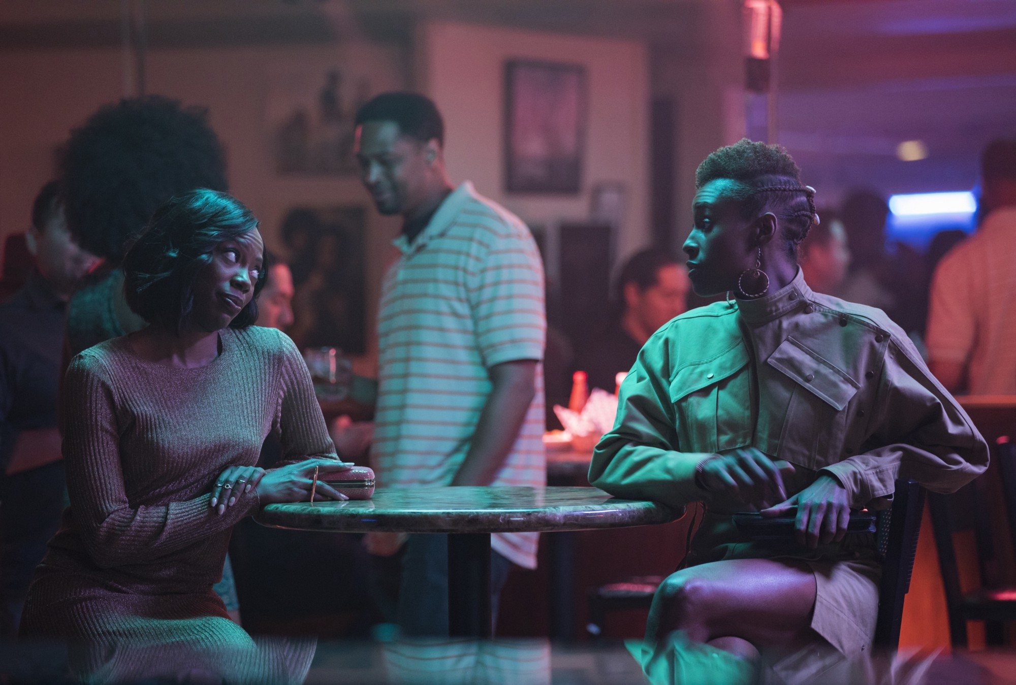 """Yvonne Orji and Issa Rae in a scene as Molly and Issa in season two of the hit HBO series """"Insecure."""""""