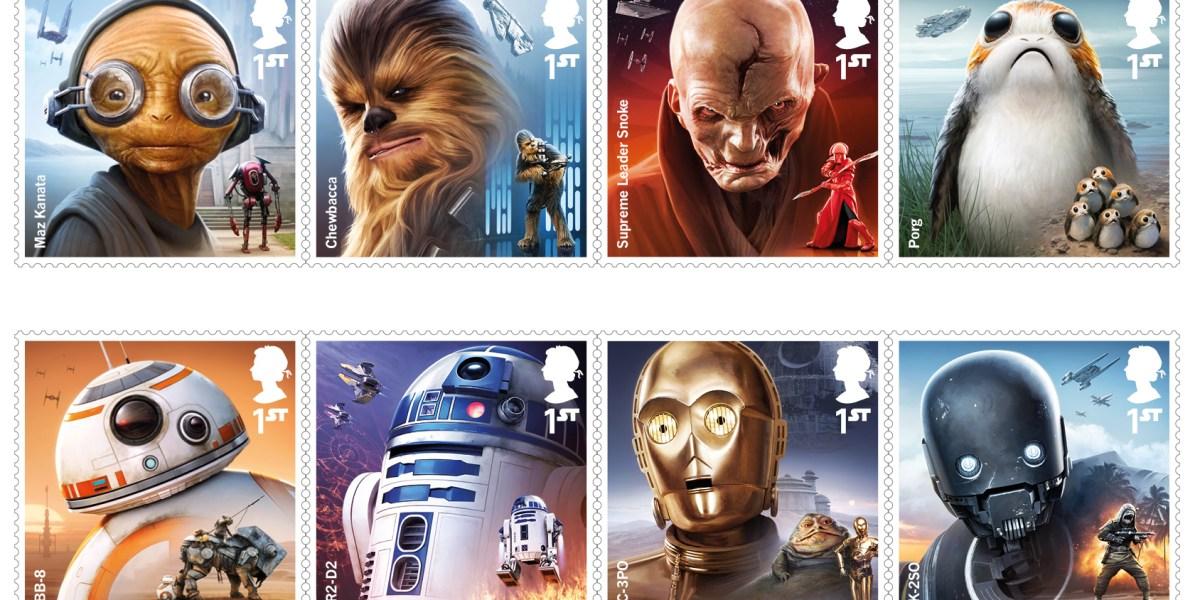 Star Wars The Last Jedi Stamps to Debut in U K in October