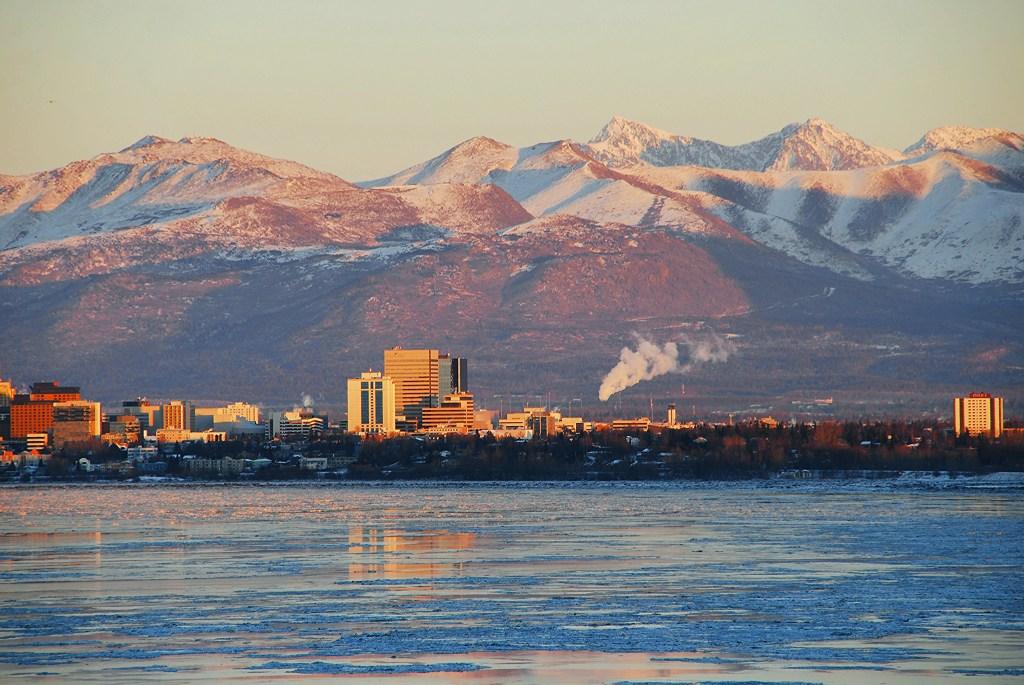Alaska Anchorage Cold Day
