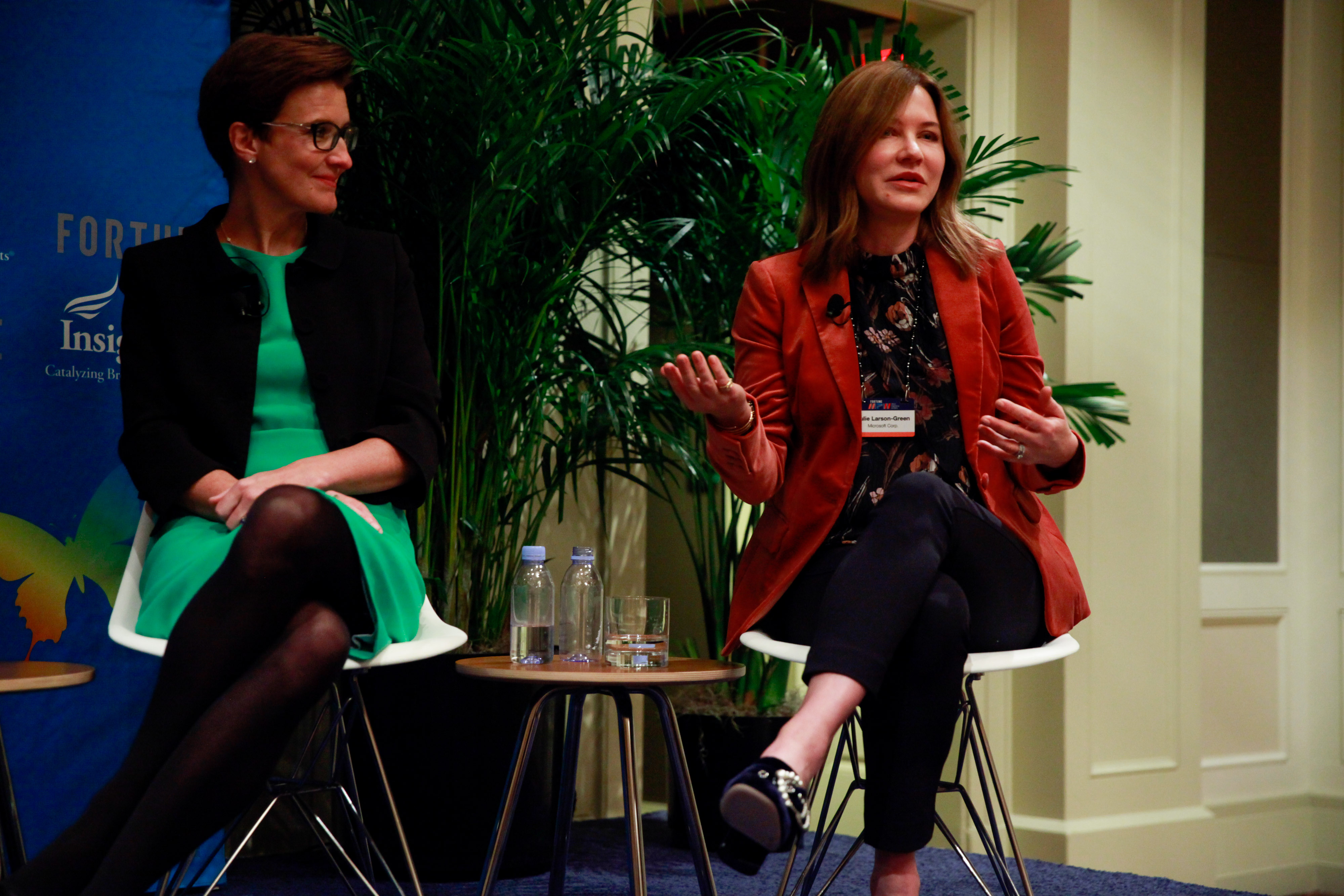 Citigroup's Jane Fraser and Microsoft's Julie Larson-Green at Fortune's Most Powerful Women Summit.