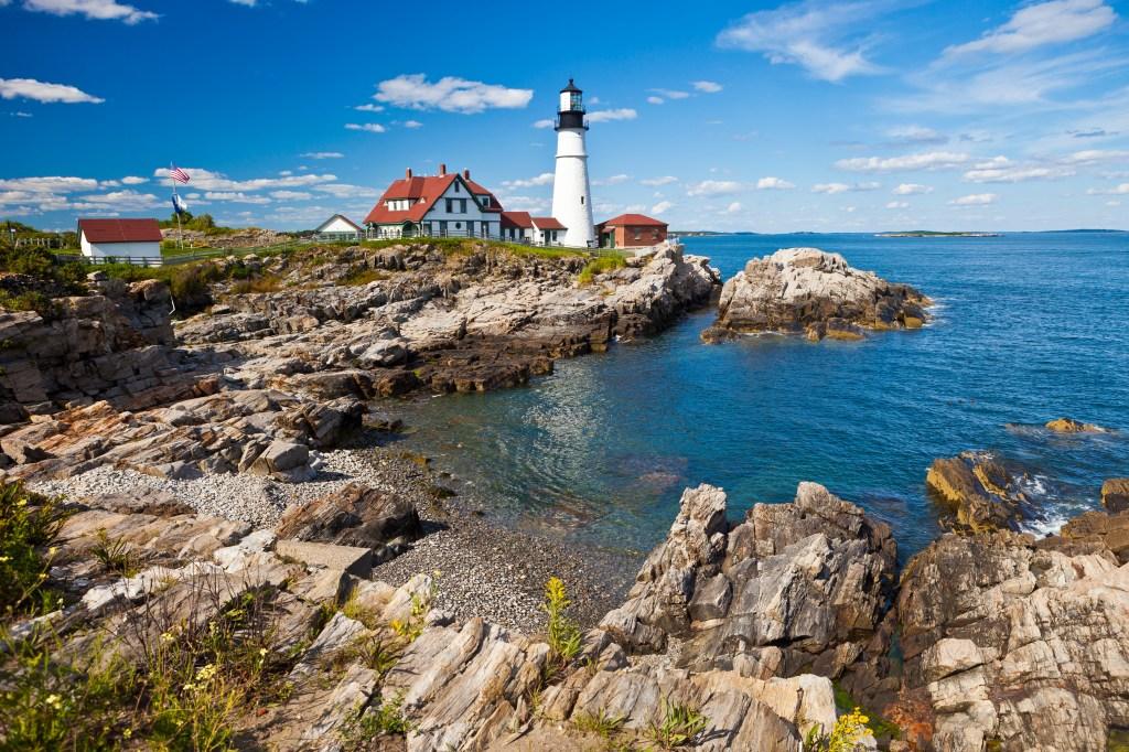 Portland Head Lighthouse In Maine, USA