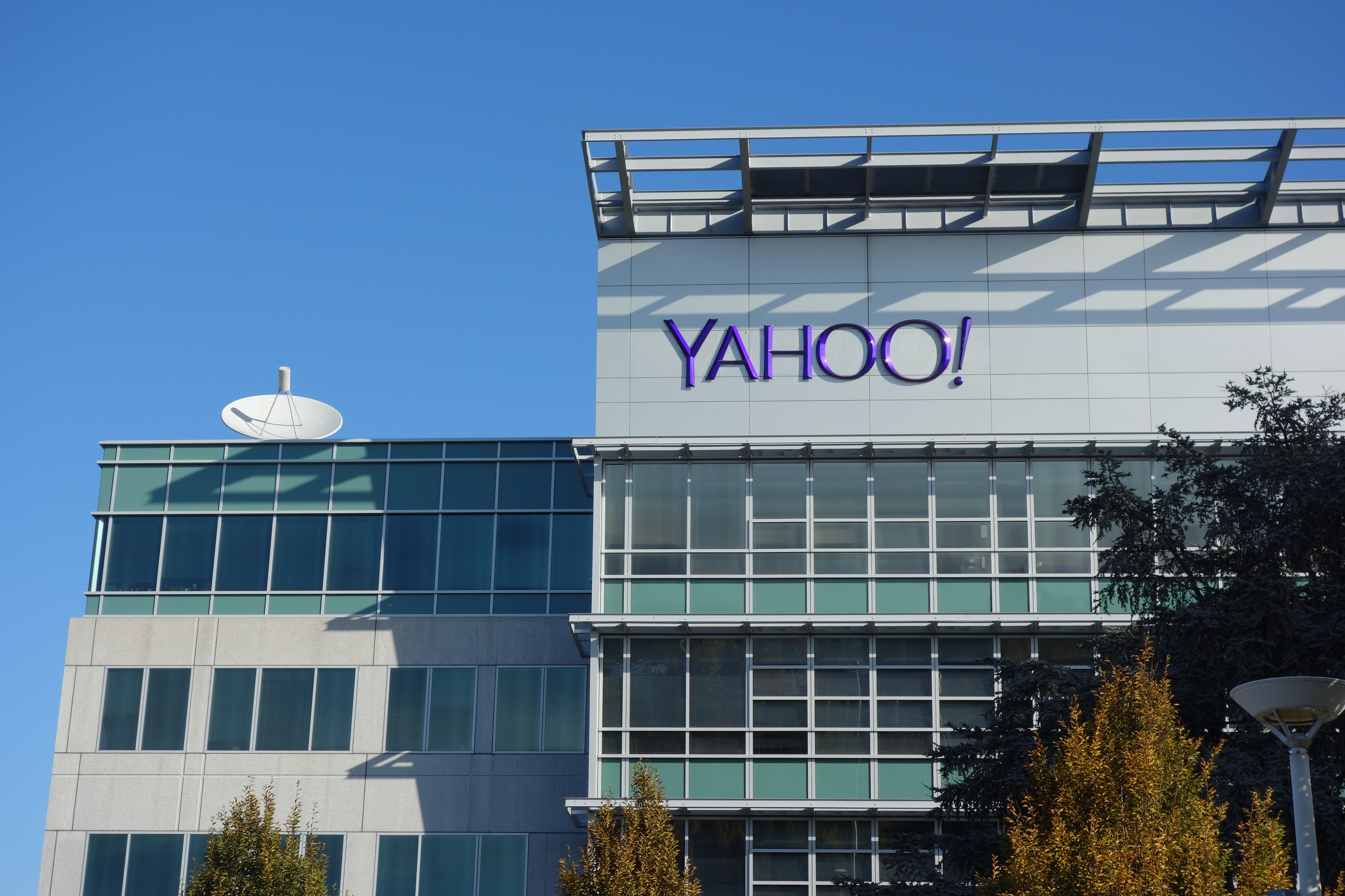 Yahoo! corporate offices and headquarters in Sunnyvale, Calif.