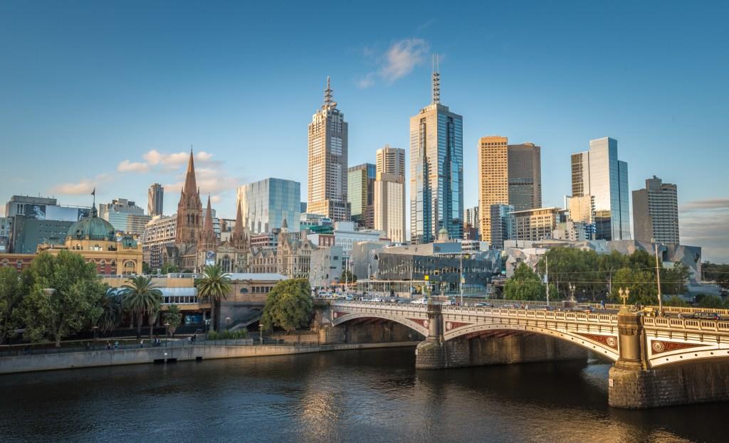 The city of Melbourne, Australia.