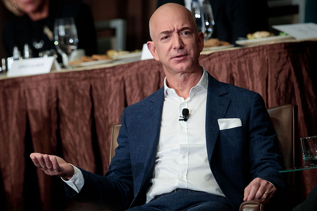 Amazon CEO Jeff Bezos Addresses Economic Club Of New York