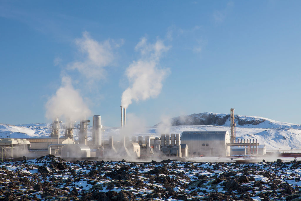 The Svartsengi Power Station, geothermal power plant.