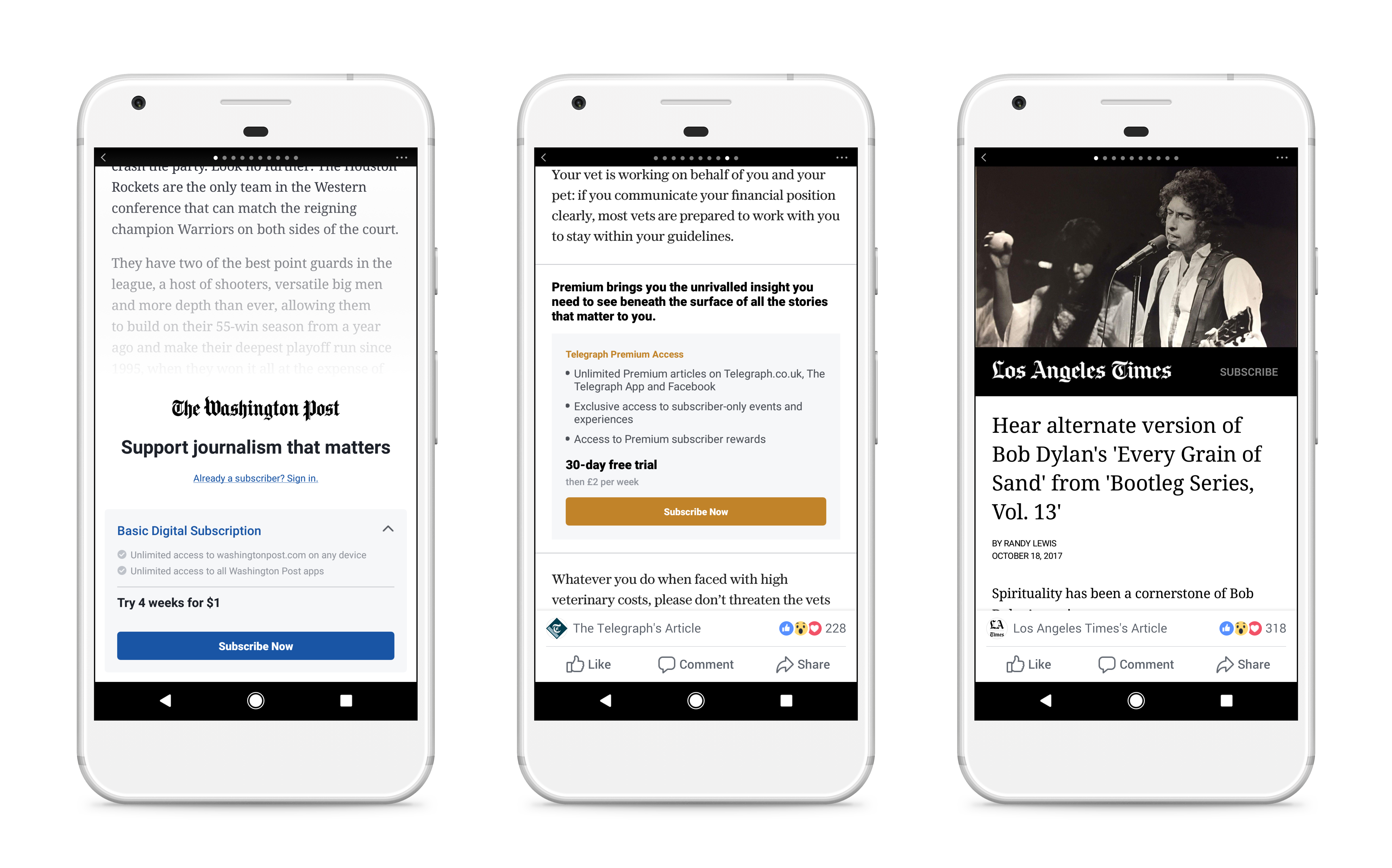 Facebook Tests News Subscription Tool on Android, Not Apple | Fortune
