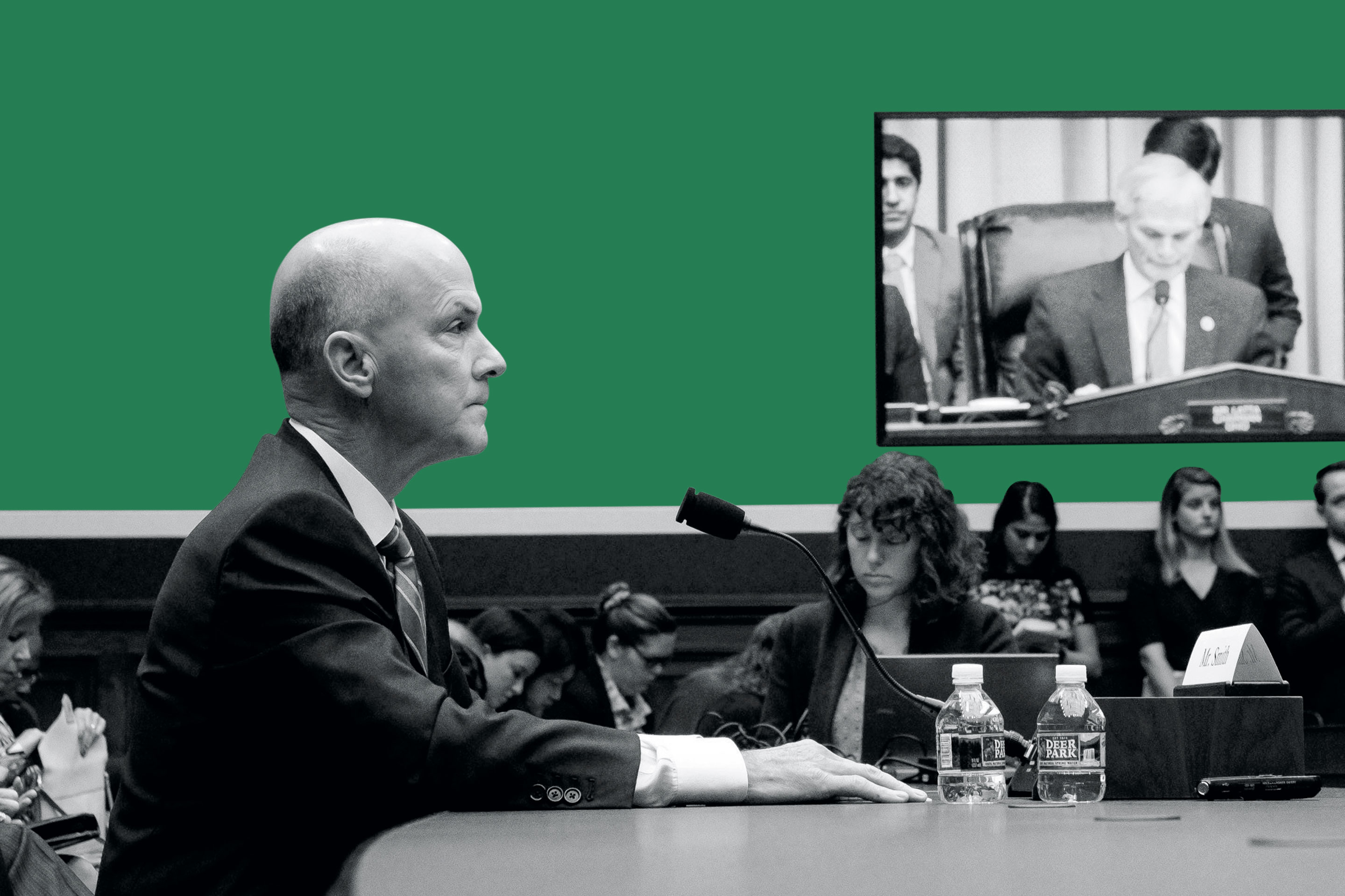 Former Equifax CEO Richard Smith testifies before Congress.